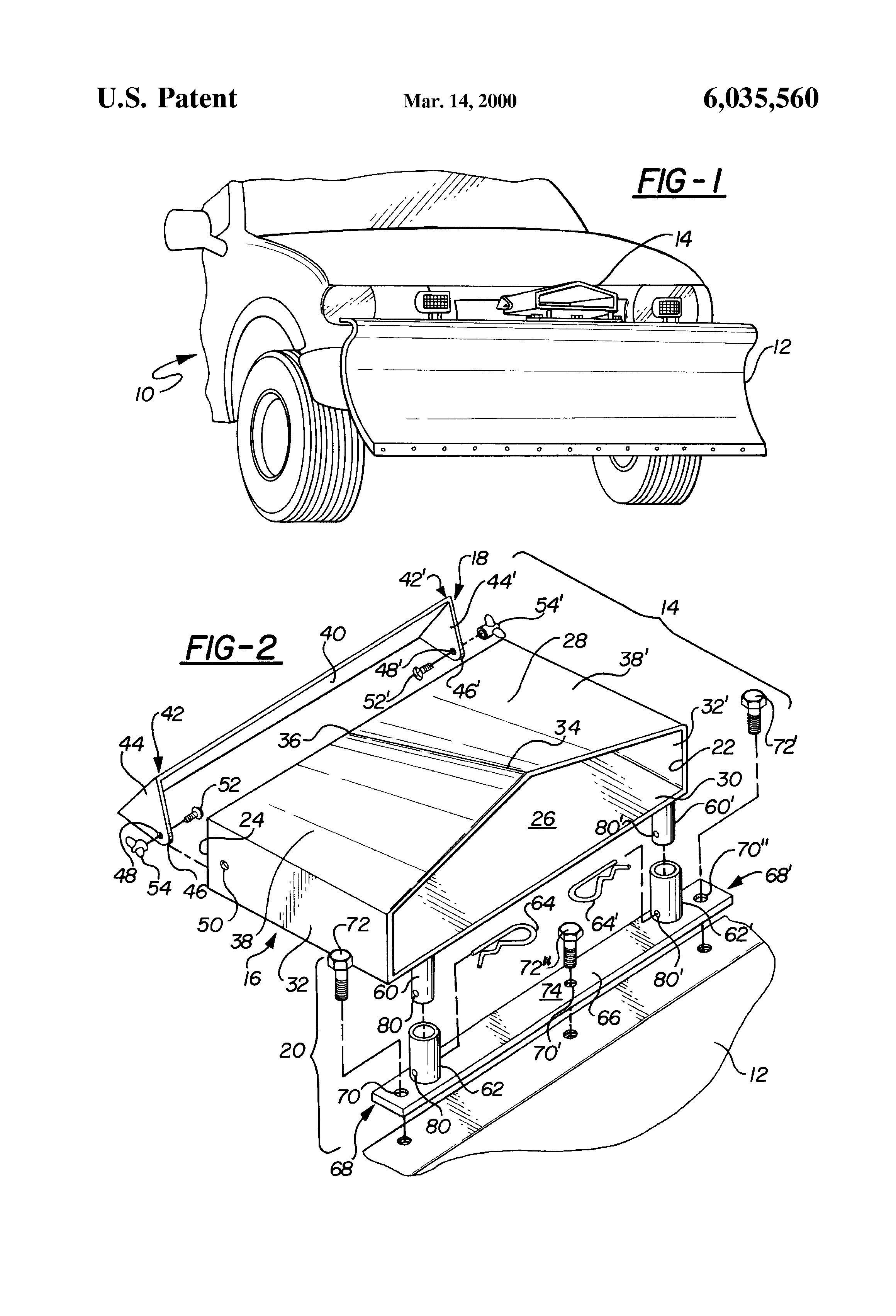Snow Plow Air Intake : Patent us air deflector with adjustable louver