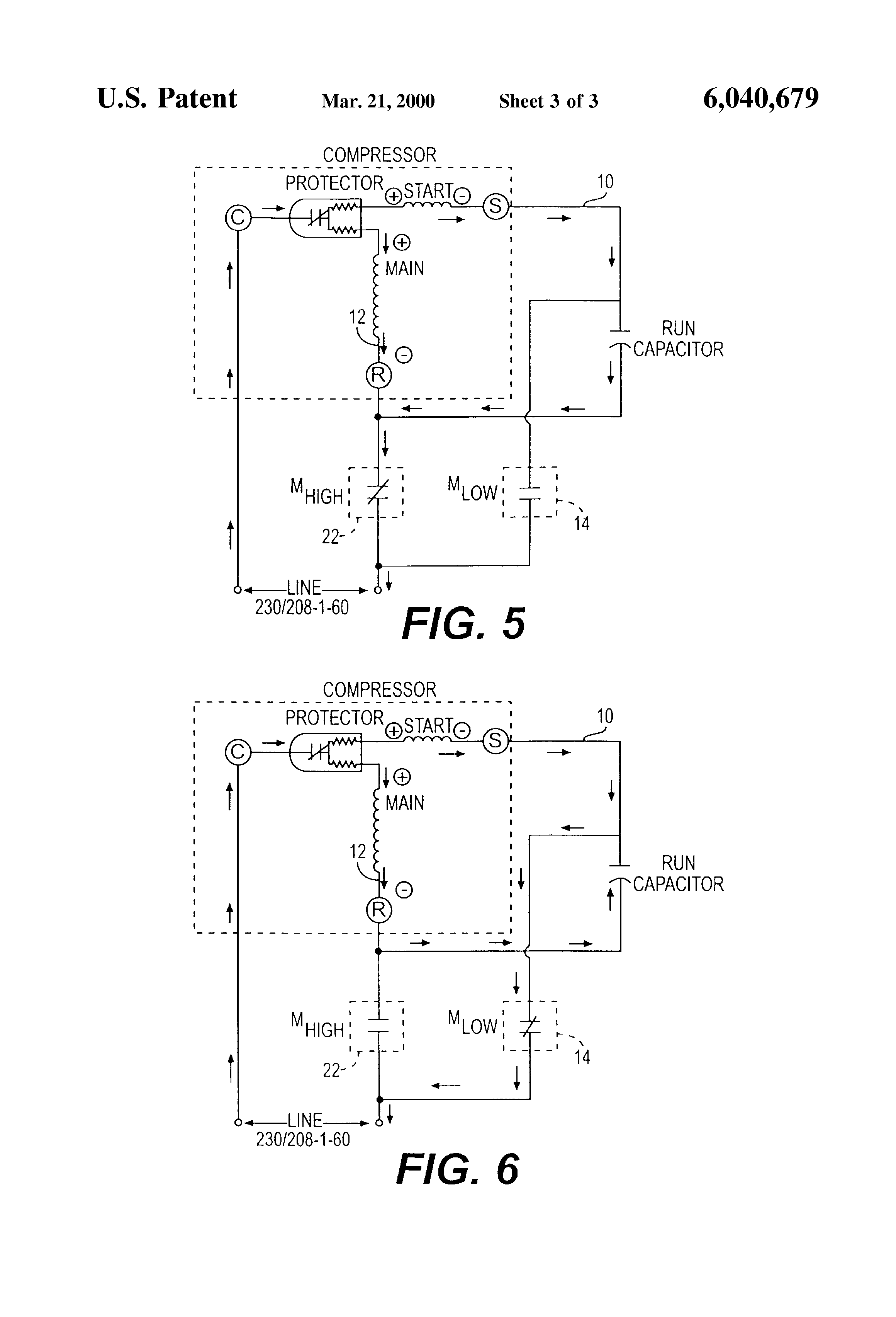 patent us variable capacity compressor having two step patent drawing
