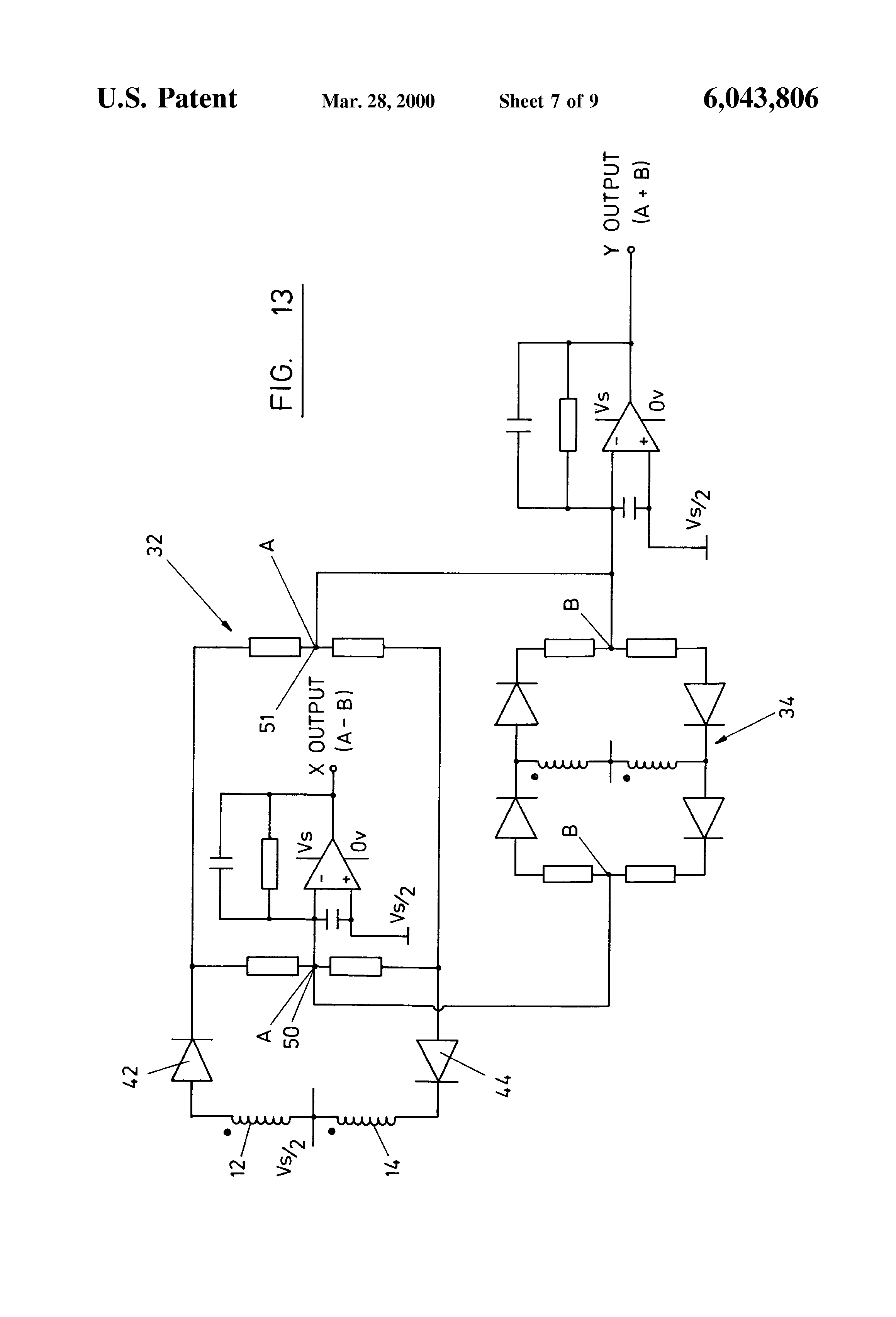 US6043806 7 patent us6043806 inductive joystick and signal processing sauer danfoss joystick wiring diagram at n-0.co