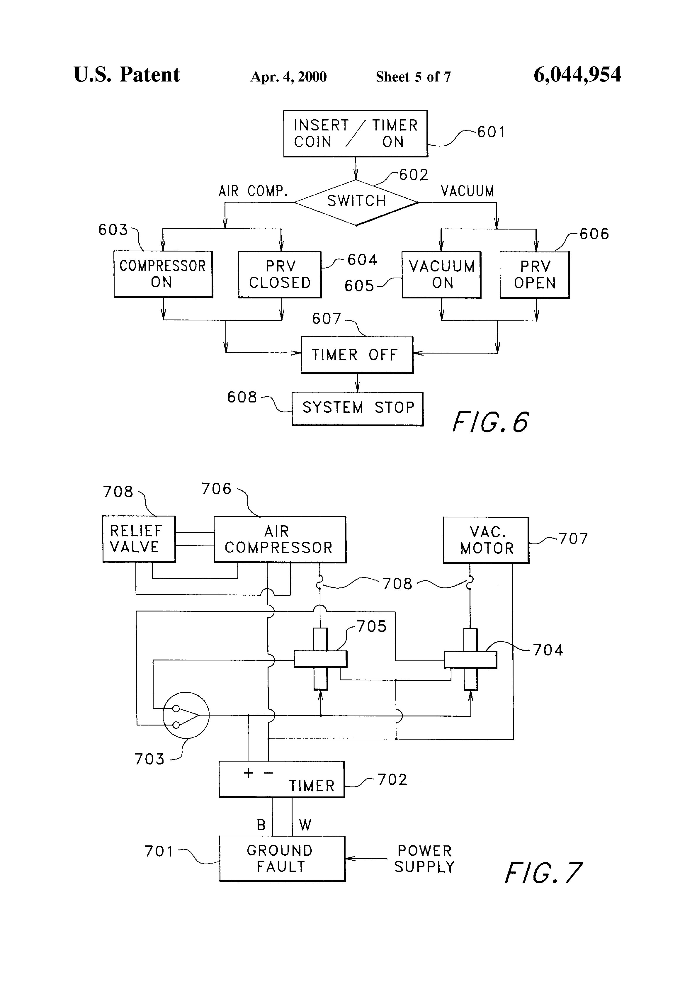 patent us6044954 method and apparatus for selective operation of patent drawing