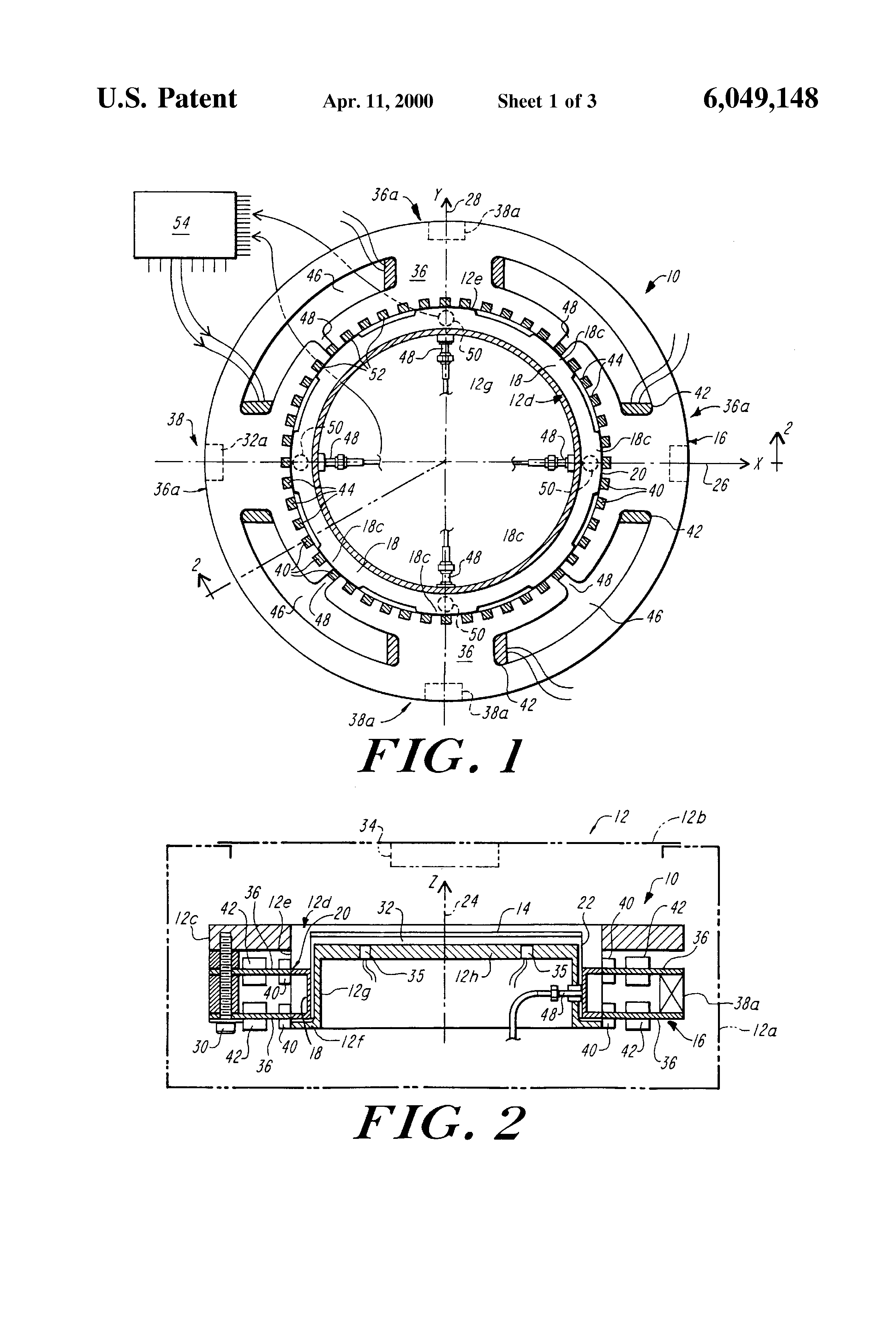Patent Us6049148 Integrated Magnetic Levitation And Rotation Homopolar Motor Explanation Electrical Measurement Drawing