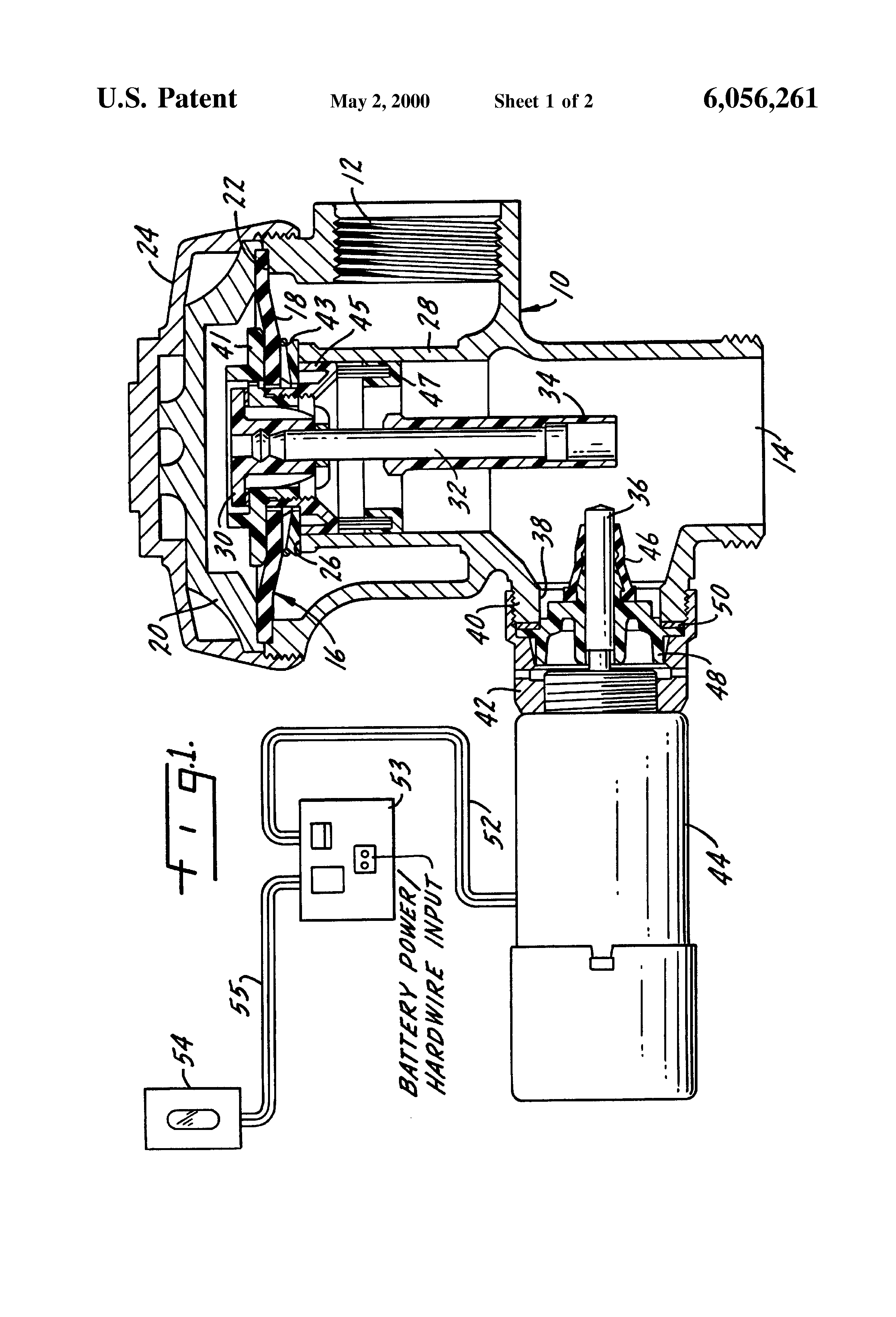 US6056261 1 patent us6056261 sensor operated solenoid direct drive flush Sloan Toilet Flush Valve Diagram at mifinder.co