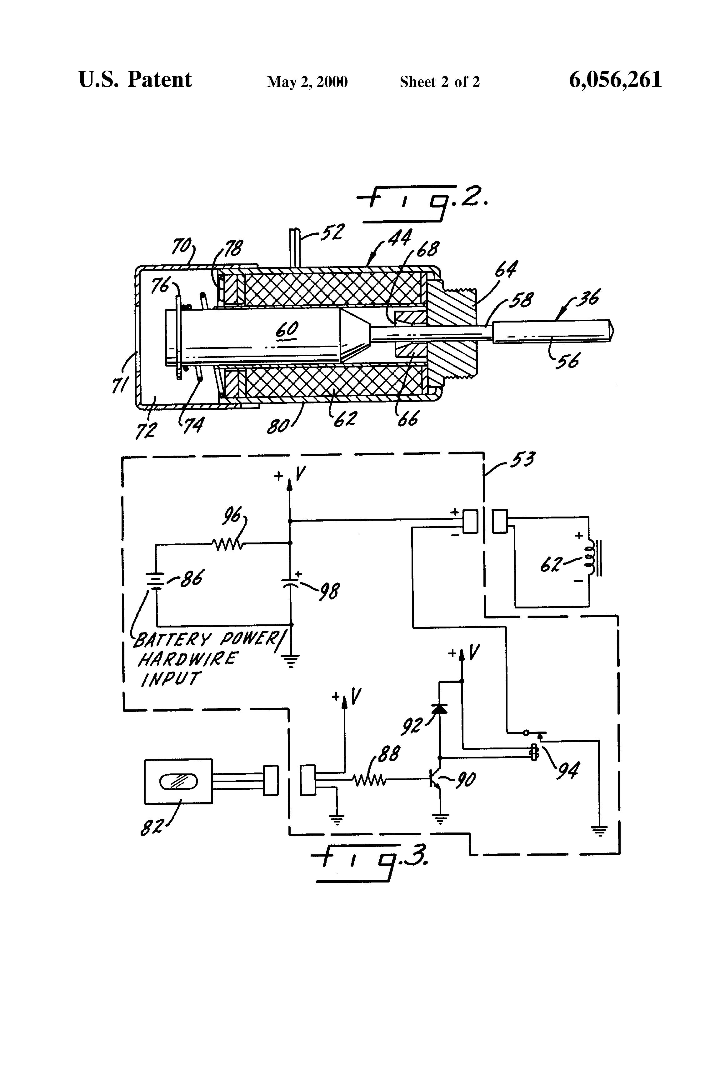 US6056261 2 patent us6056261 sensor operated solenoid direct drive flush Sloan Toilet Flush Valve Diagram at gsmx.co