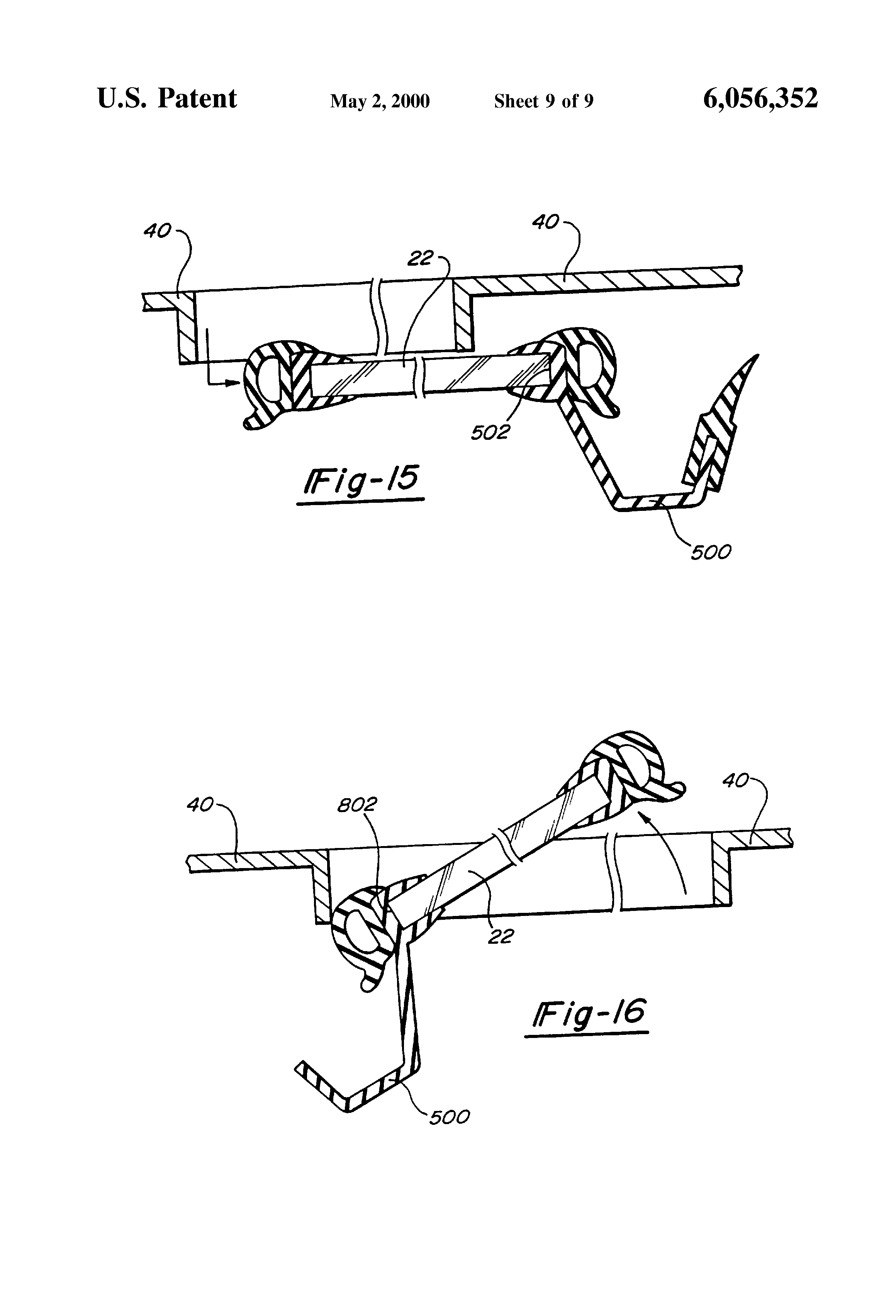 US6056352 10 patent us6056352 sunroof assembly for an automotive vehicle and inalfa sunroof wiring diagrams at gsmx.co