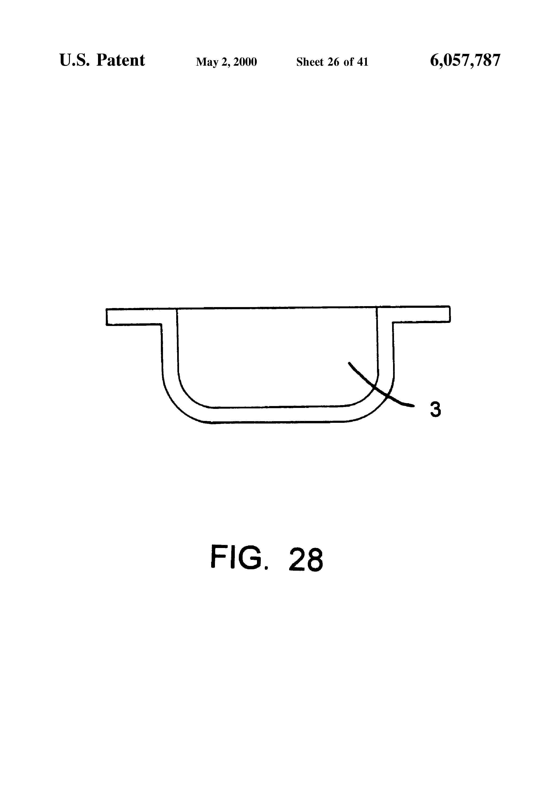patent us6057787 automatic safety flag for boats and water