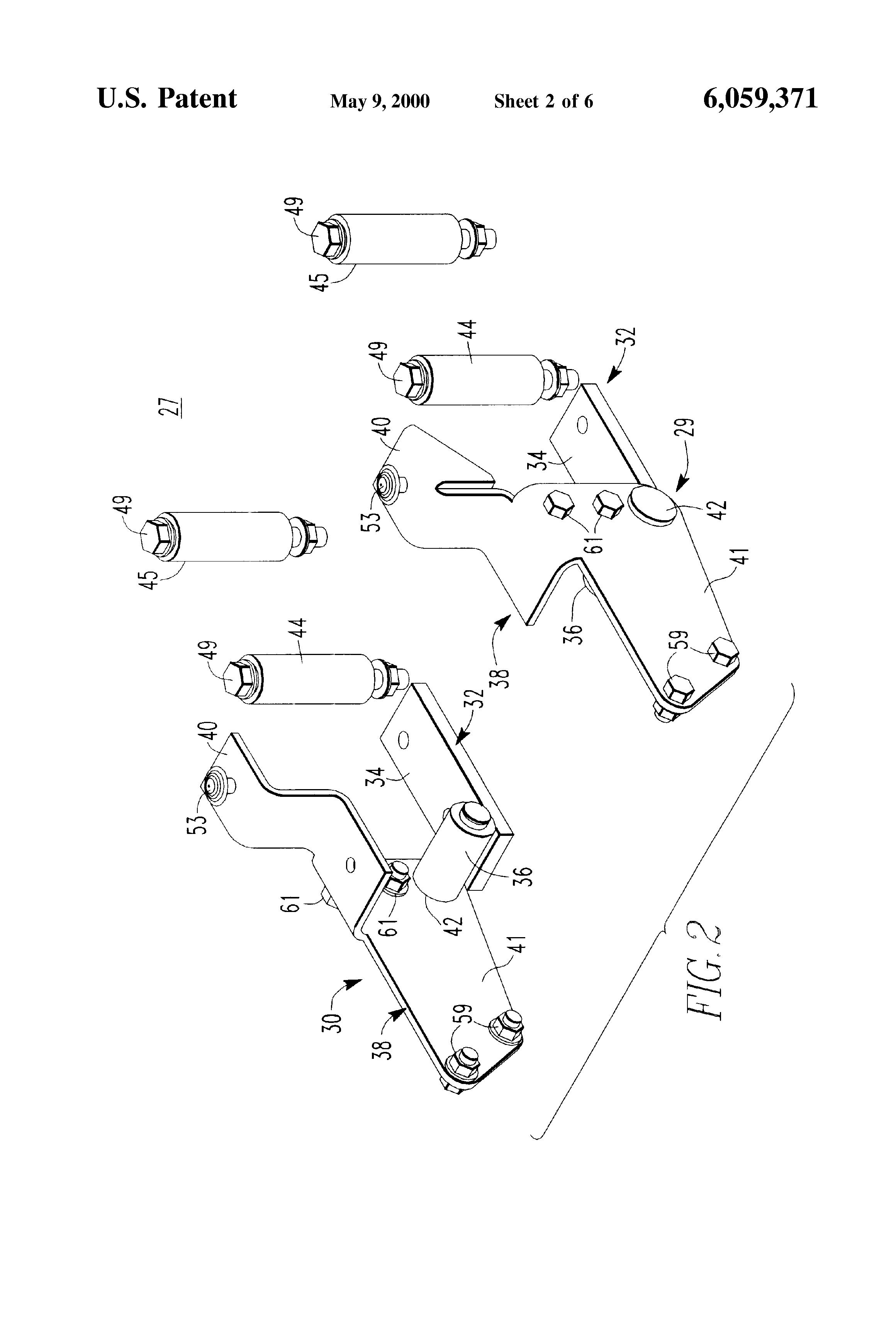 patent us6059371 - hinge assembly for pickup trucks - google patents