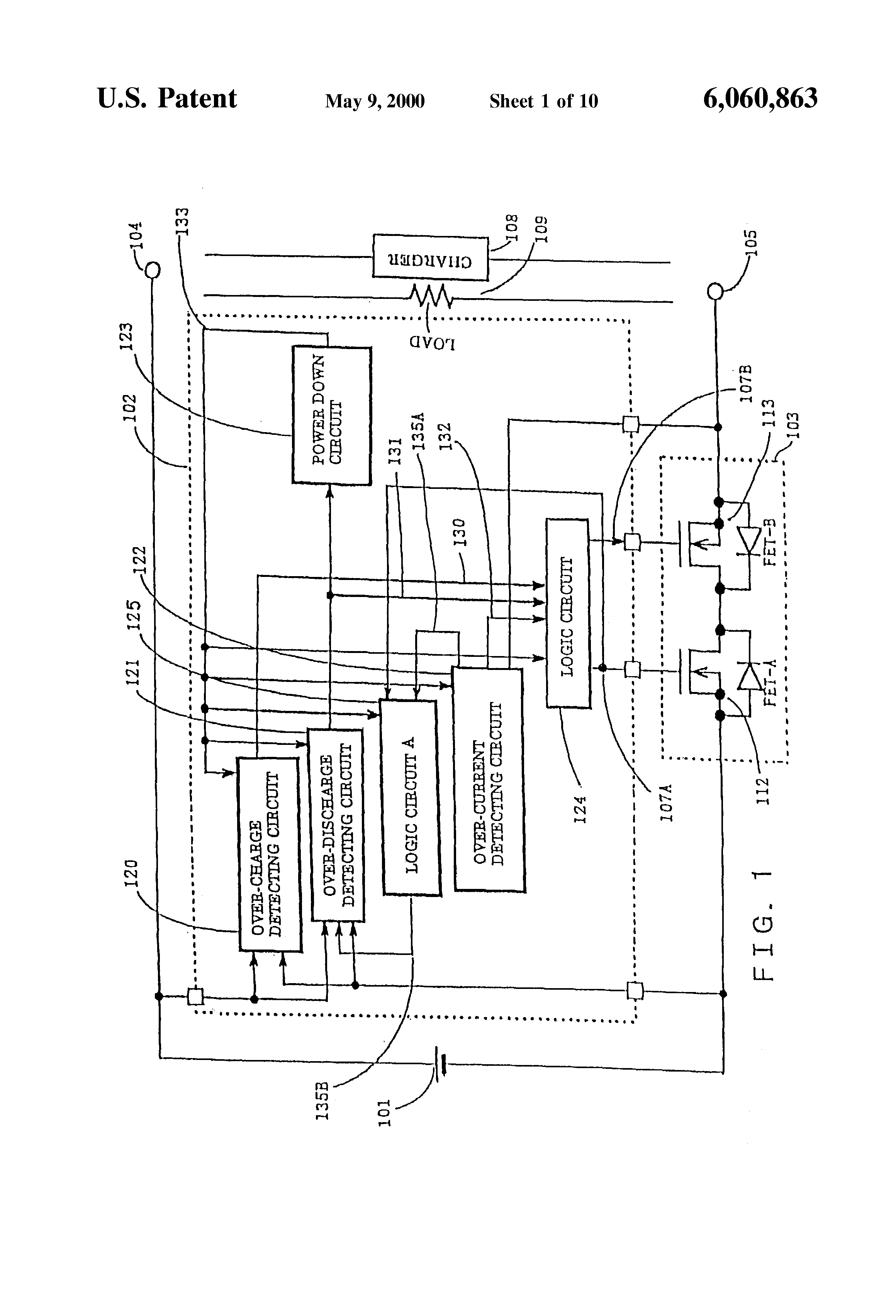 Patent Us6060863 Charge And Discharge Control Circuit The Time Delay With A Fet Controlcircuit Diagram Drawing