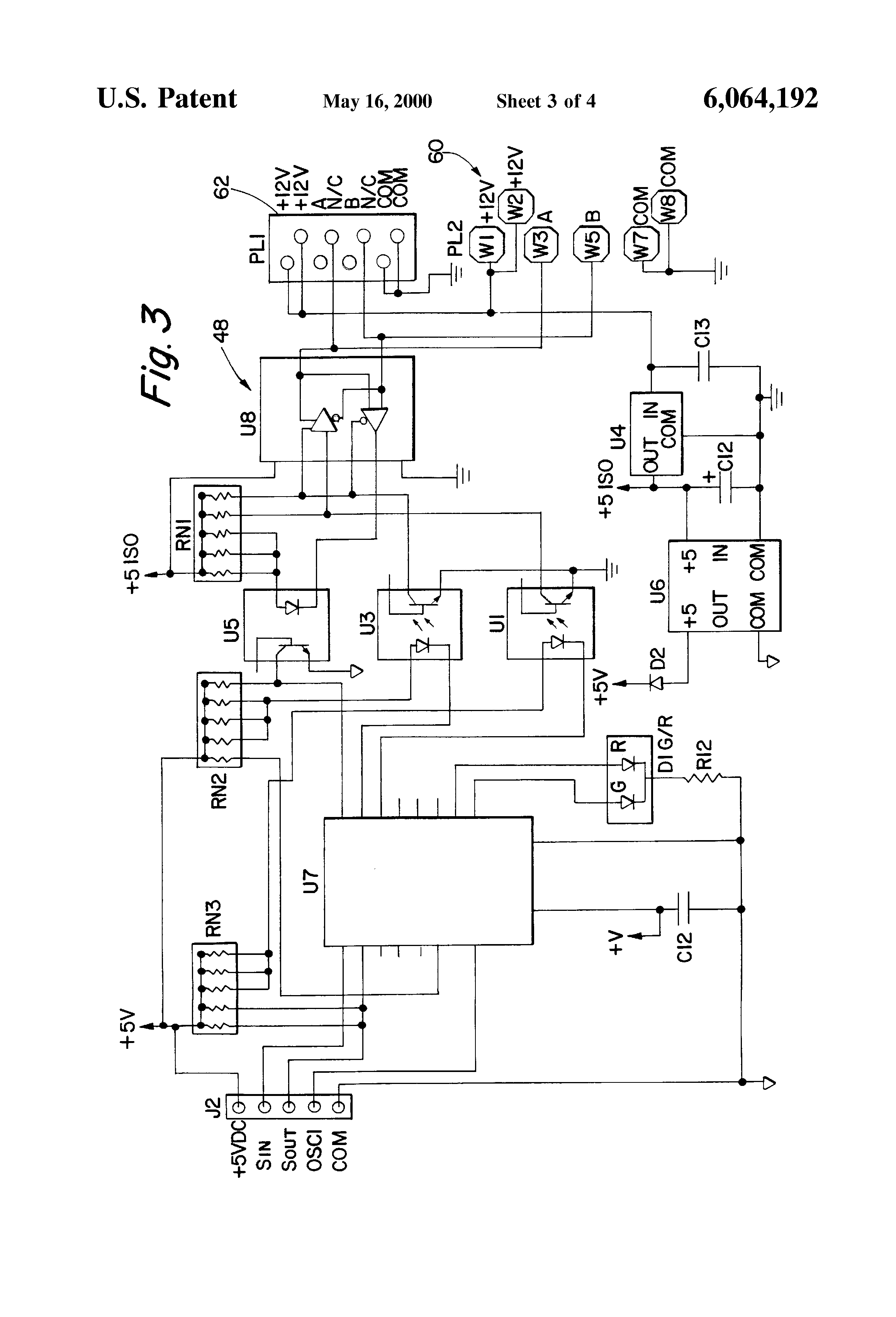 patent us6064192 revenue meter integral current transformer patent drawing