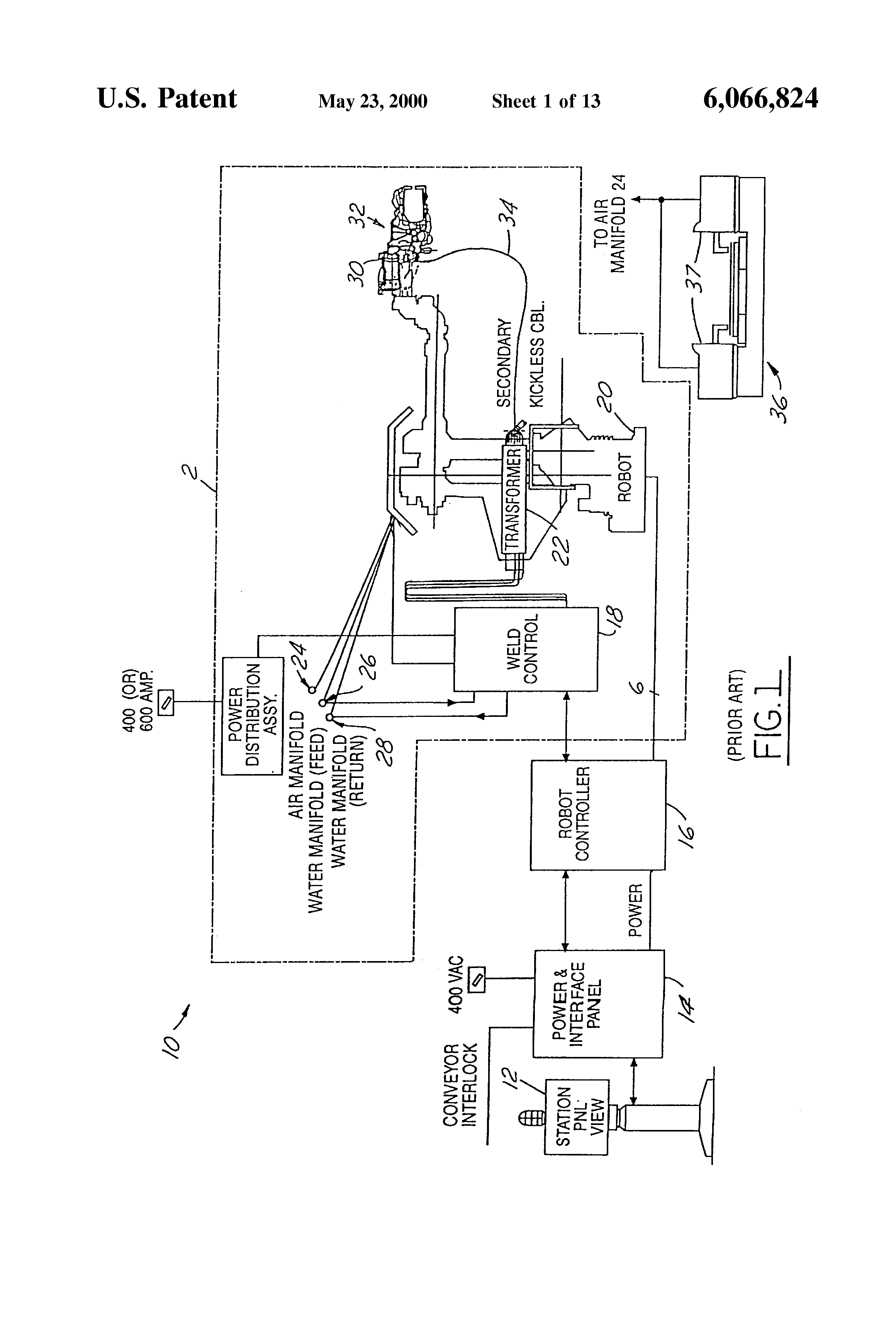 Patent Us6066824 Resistance Welding System With A Self Contained 140 Replacement Parts Motor Repalcement And Diagram Drawing