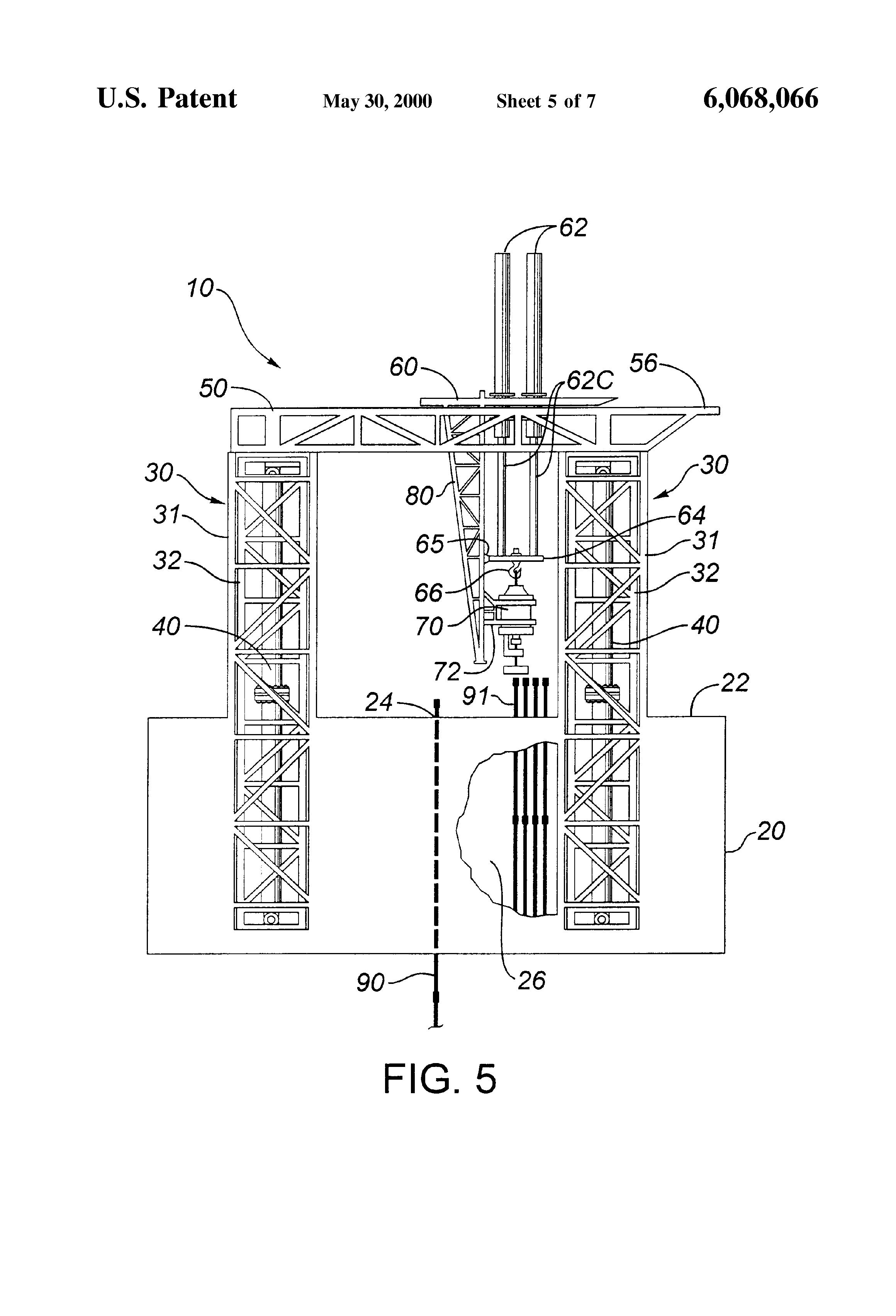 Rig Floor Elevation : Patent us hydraulic drilling rig google patenten