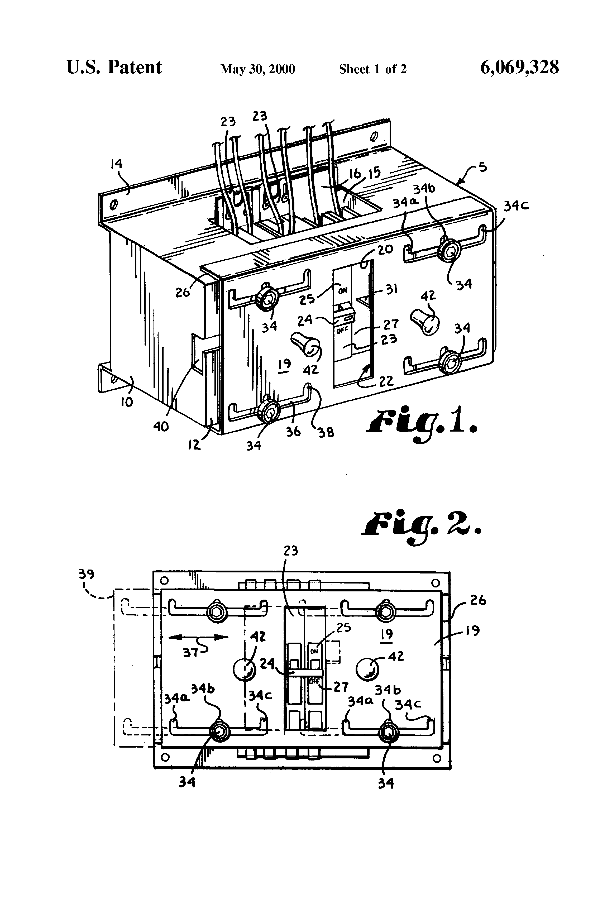 patent us6069328 - circuit breaker mechanical interlock