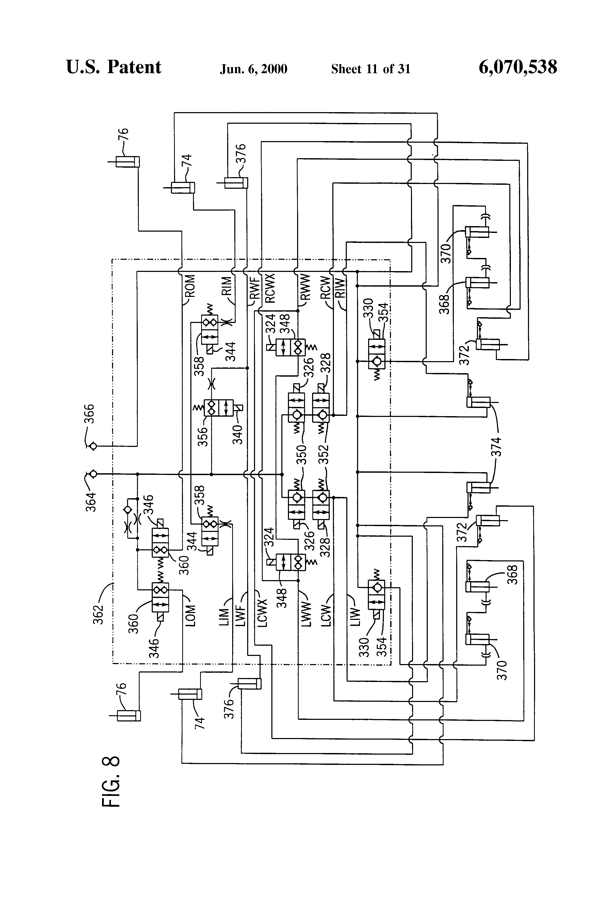 Wiring Diagram For 784 Valve 28 Images 1986 International Truck Us6070538 12 Patent Modular Agricultural Implement Control System Actuator At