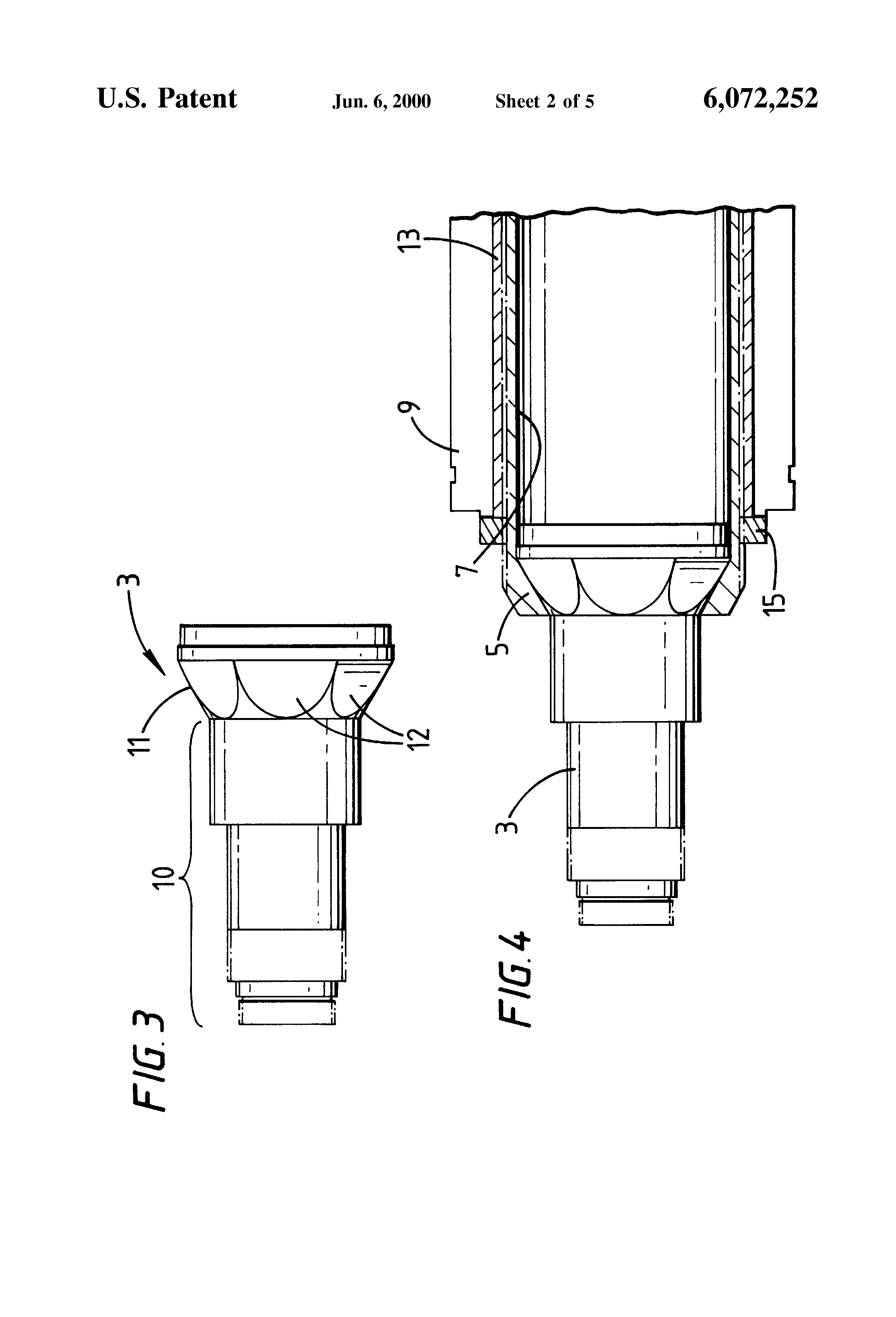 patent us6072252 - composite electric motor shaft