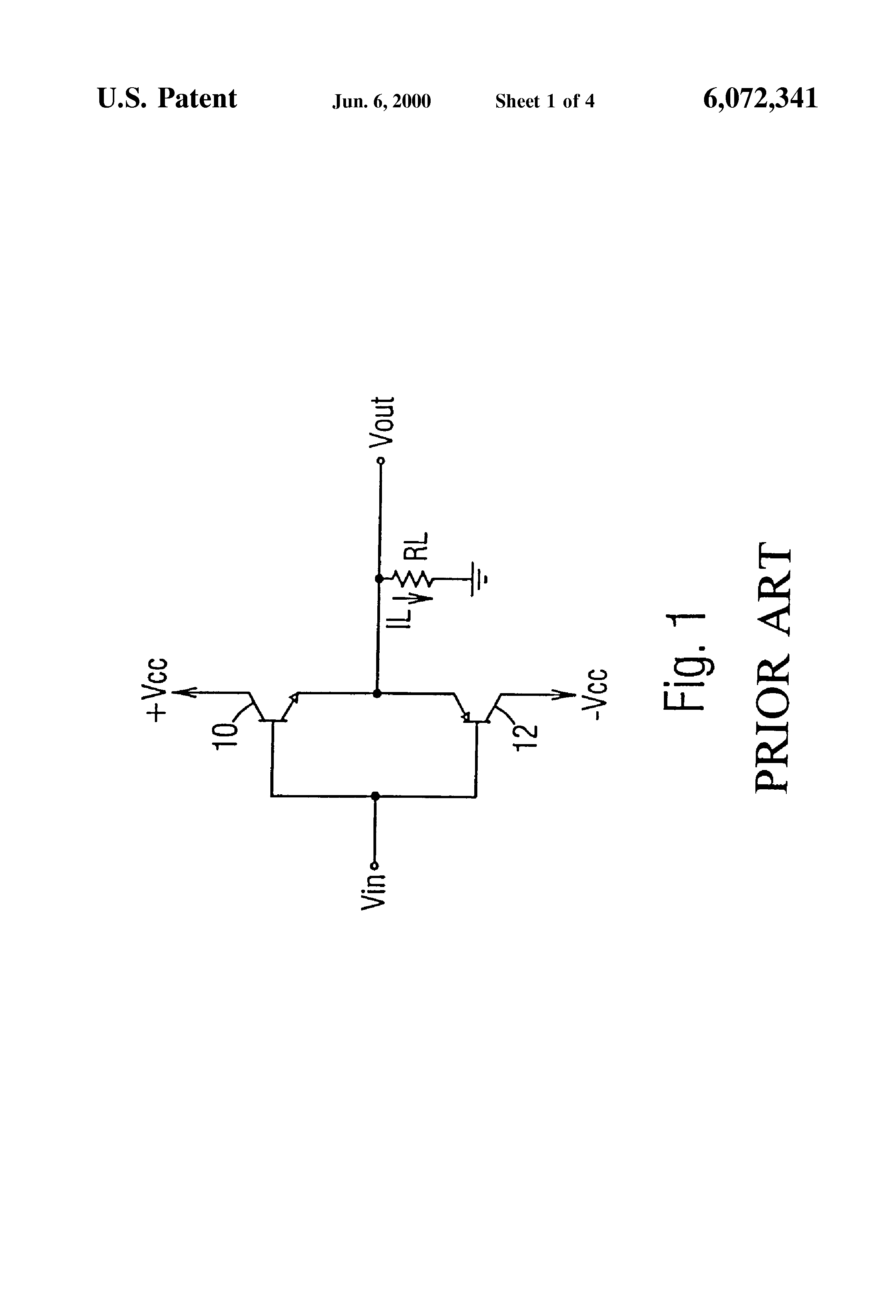 Patent Us6072341 Driver Circuit With Pull Down Npn Transistor And Diagram Drawing