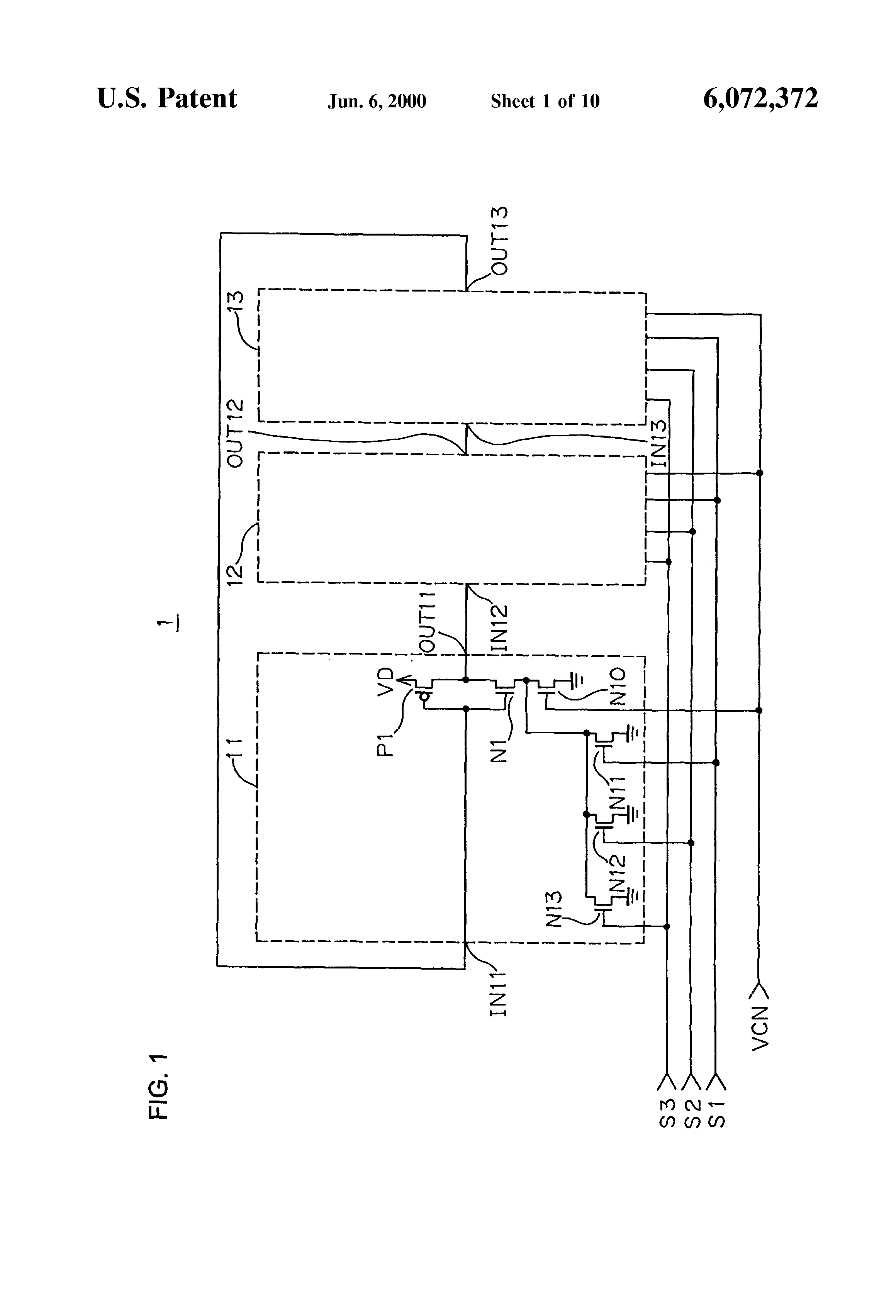 Patent Us6072372 Ring Type Voltage Controlled Oscillator Having A Circuit Diagram Composed Of Crystal Inverter Drawing