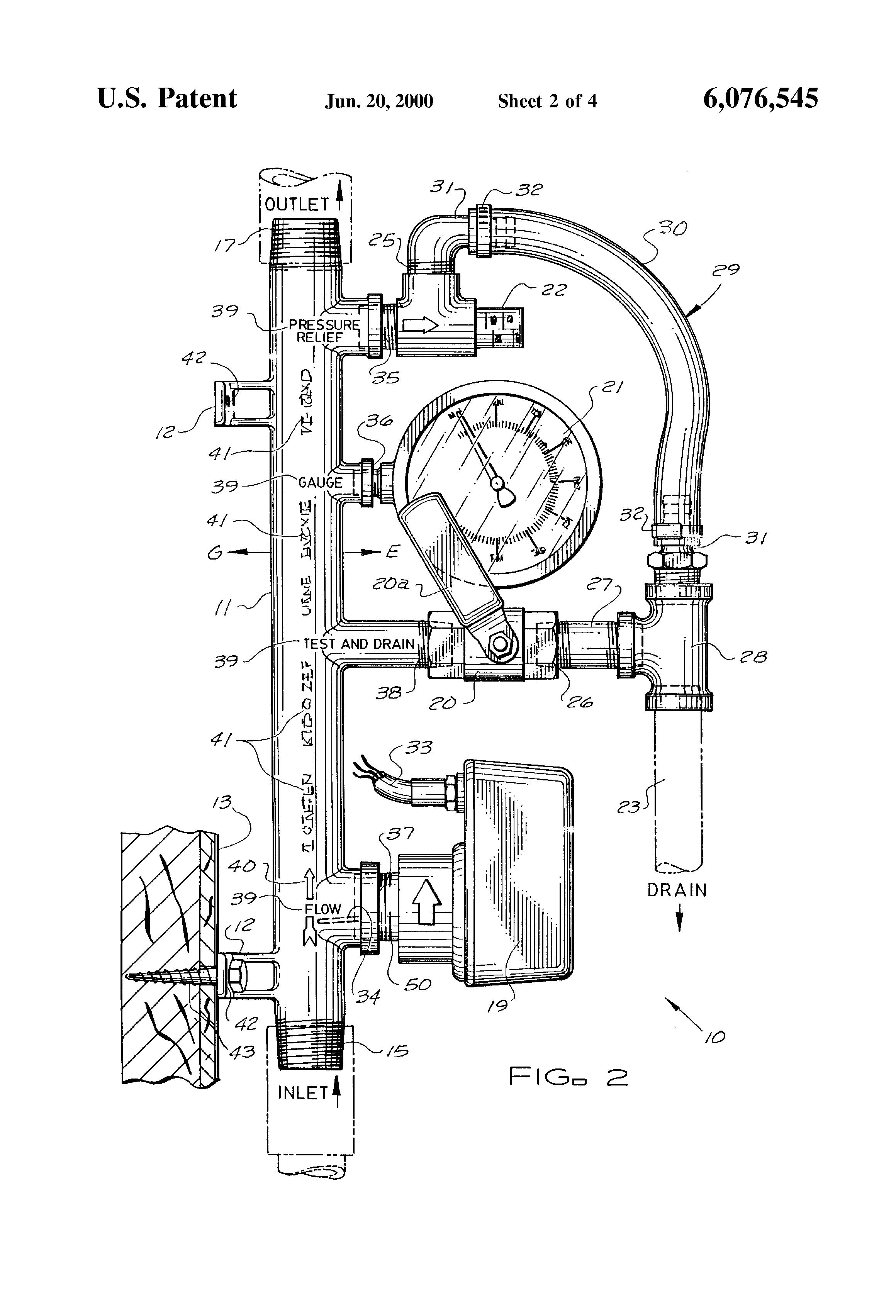 Patent us6076545 fire control sprinkler system riser for Fire sprinkler system cost calculator