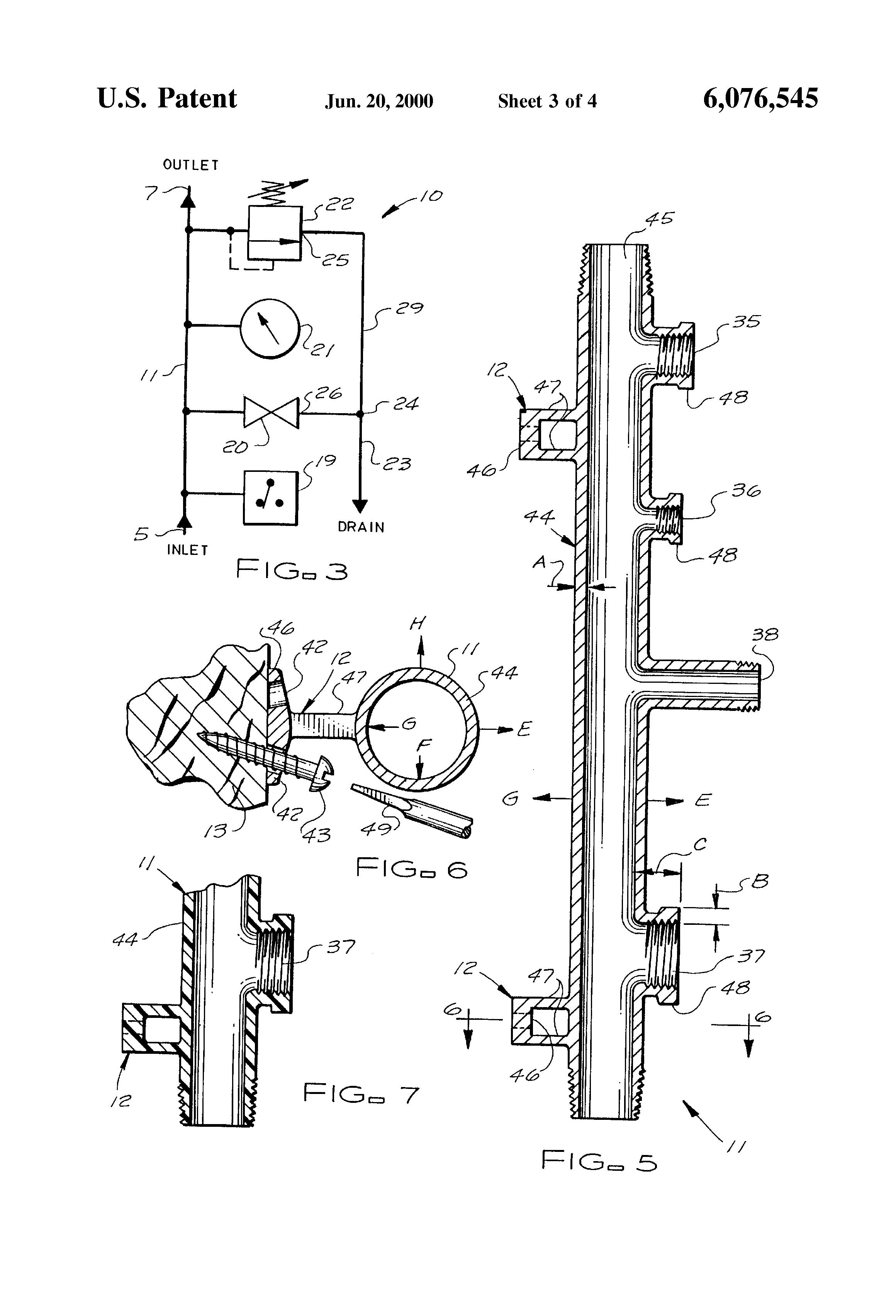 Patent US Fire control sprinkler system riser means