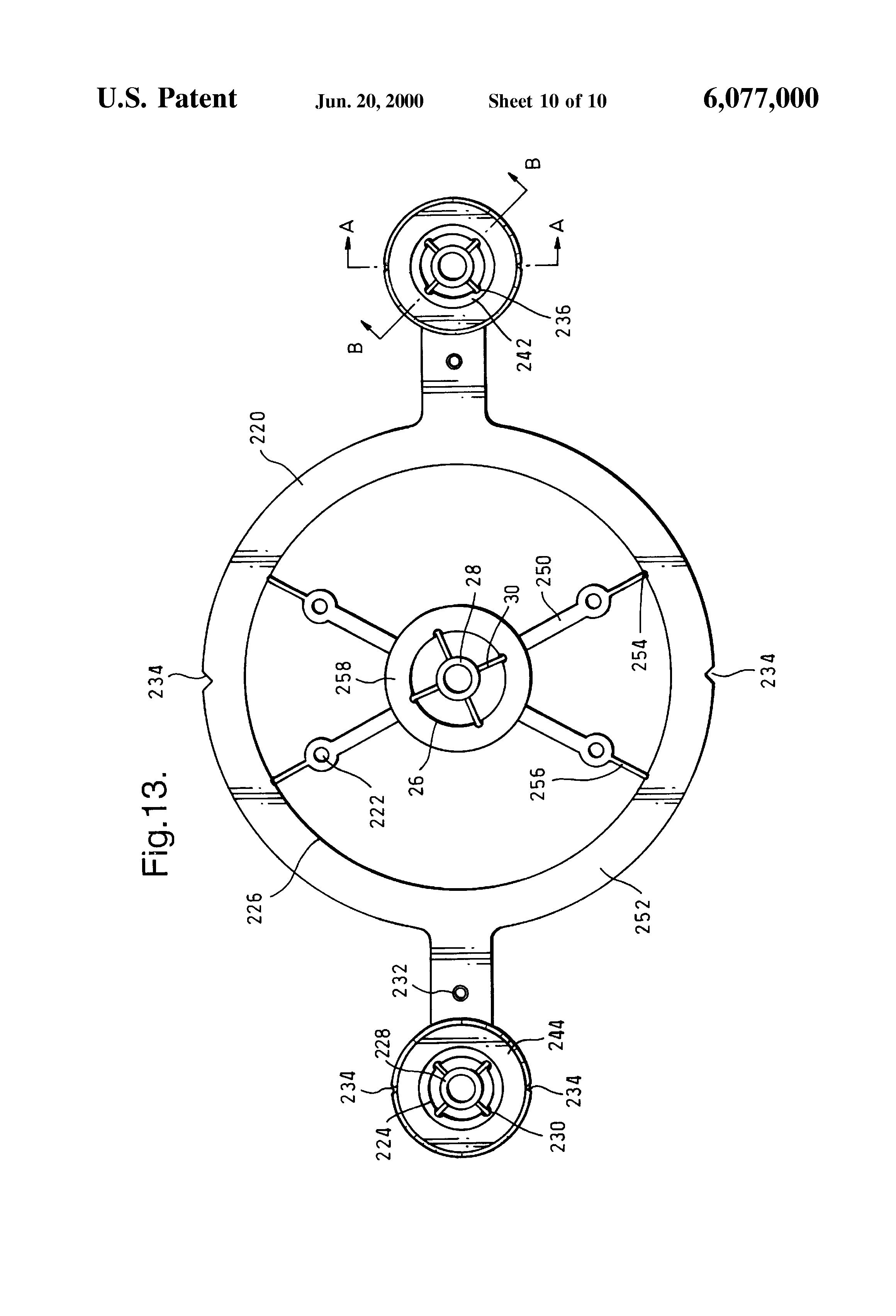 patent us6077000 pipework template google patents. Black Bedroom Furniture Sets. Home Design Ideas