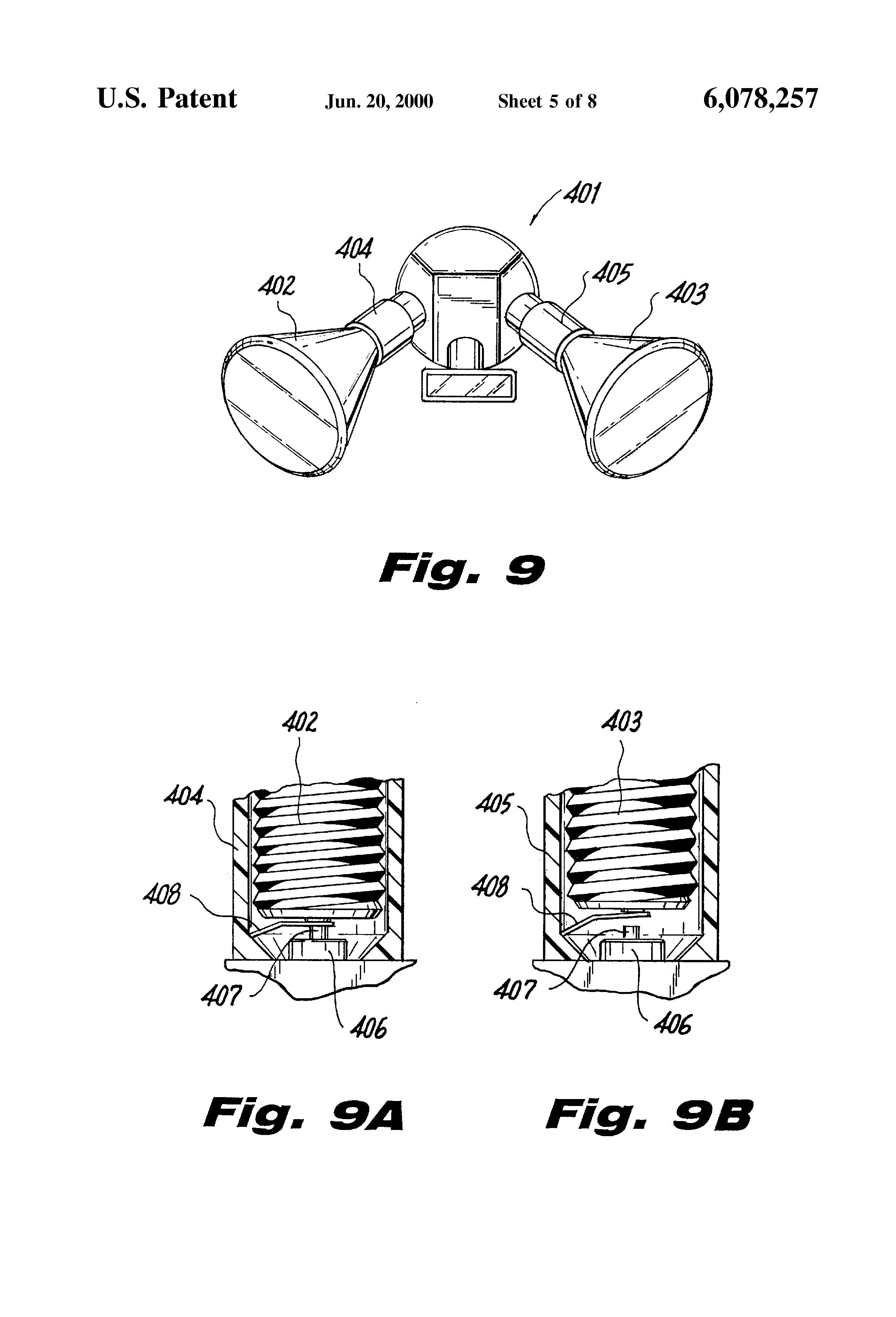 Patent Us6078257 Current Detector Flood Light Lamp Removal Alarm Audible Sensor By Ic 741 Drawing