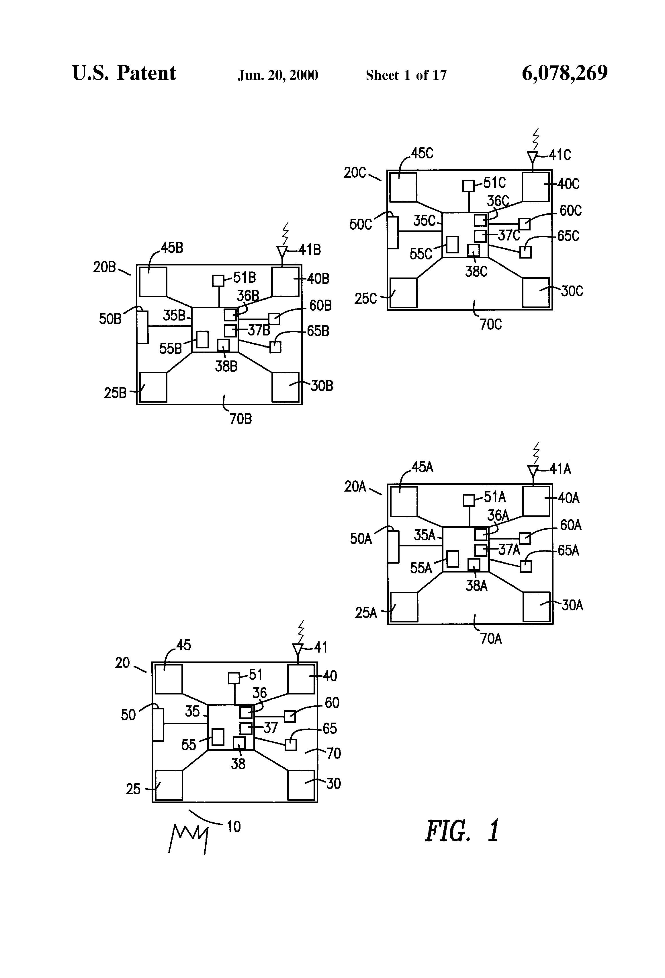Patent Us6078269 Battery Powered Rf Interconnected Detector Build Precision Receiver Low Voltage Alarm Circuit Diagram Drawing