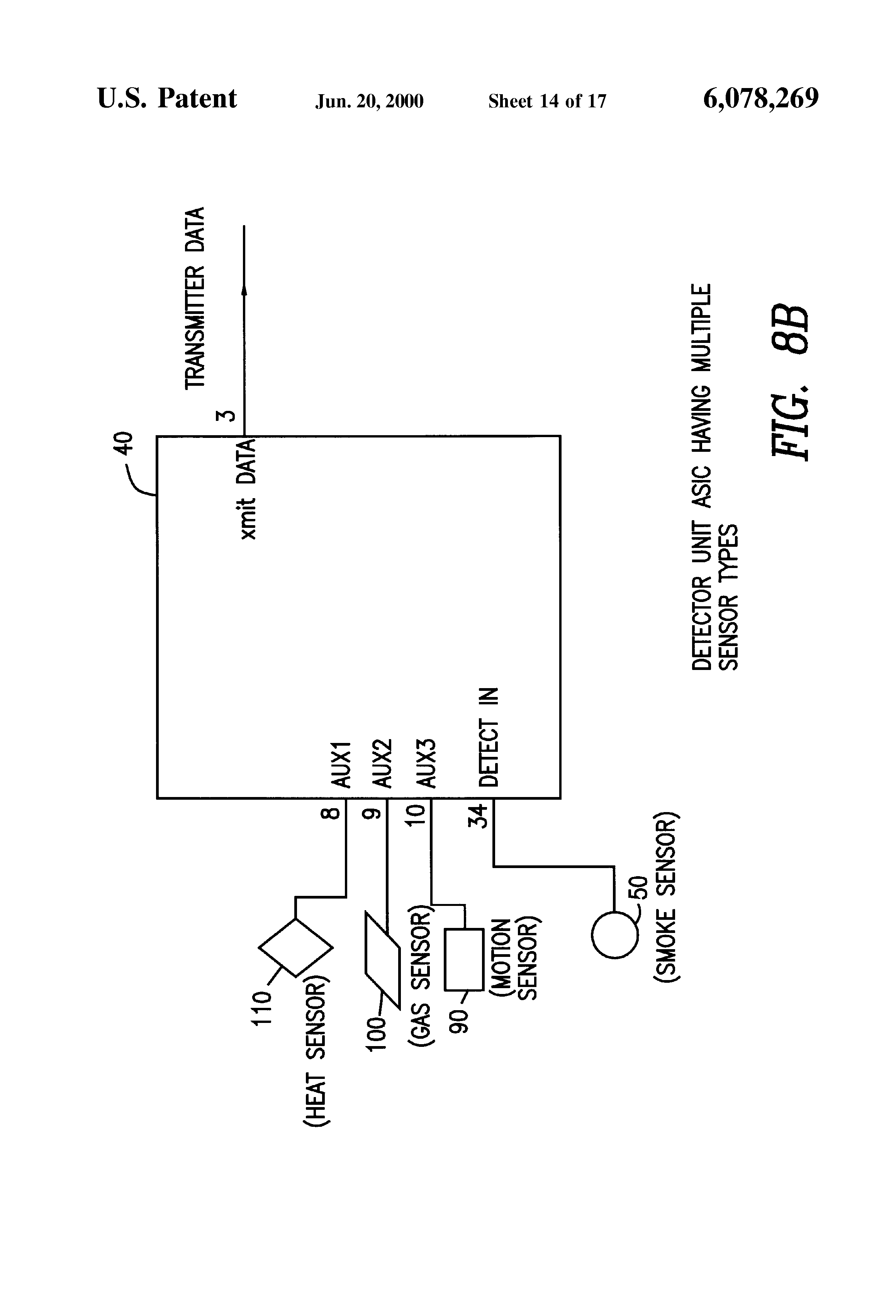 Patent Us6078269 Battery Powered Rf Interconnected Detector Motion Sensor Wiring Diagram On For Smoke Drawing