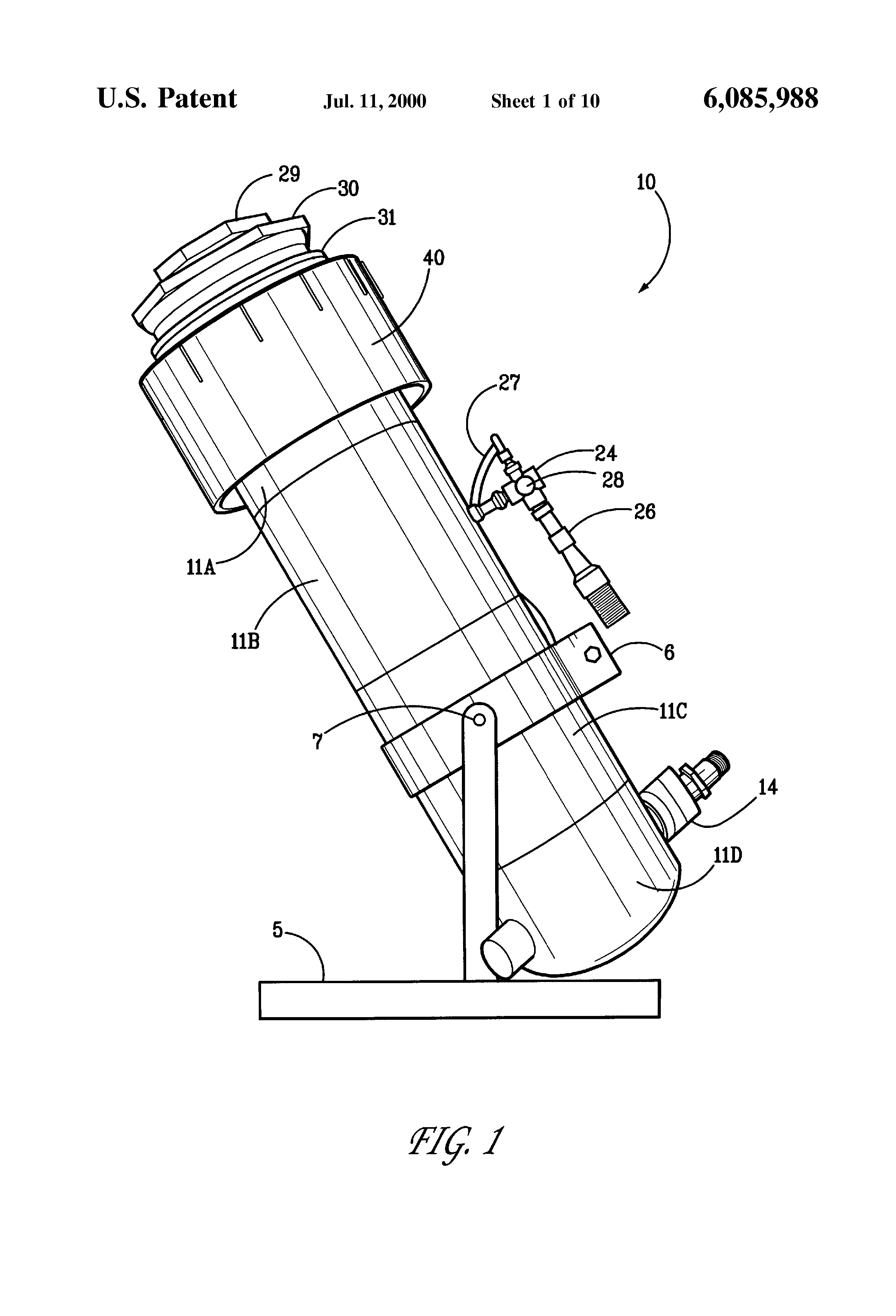 Patent US6085988 Laminar flow vertical jet stream nozzle with overhead stream capture Google