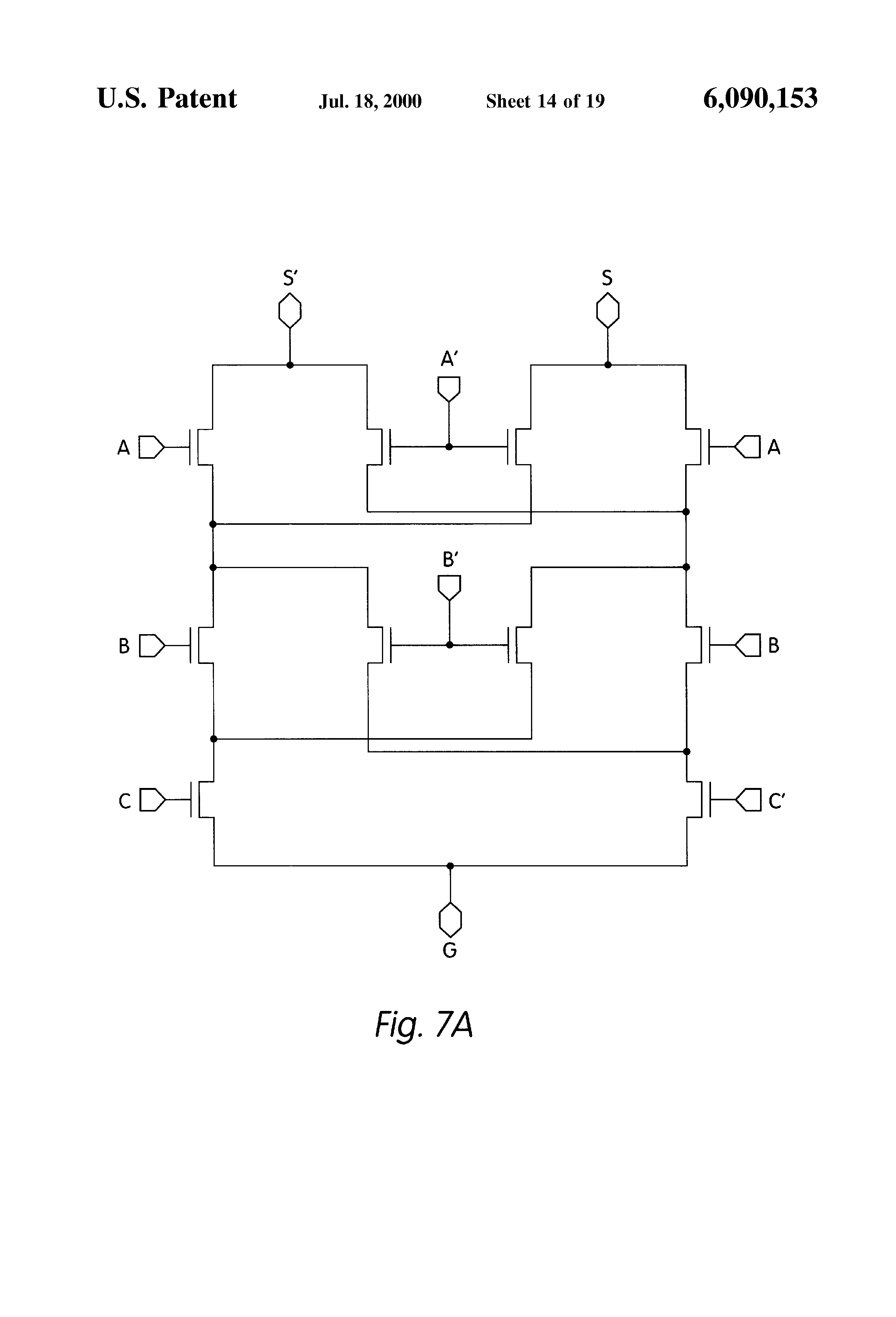 Patent Us6090153 Multi Threshold Voltage Differential Cascode Circuit And Driver Drawing