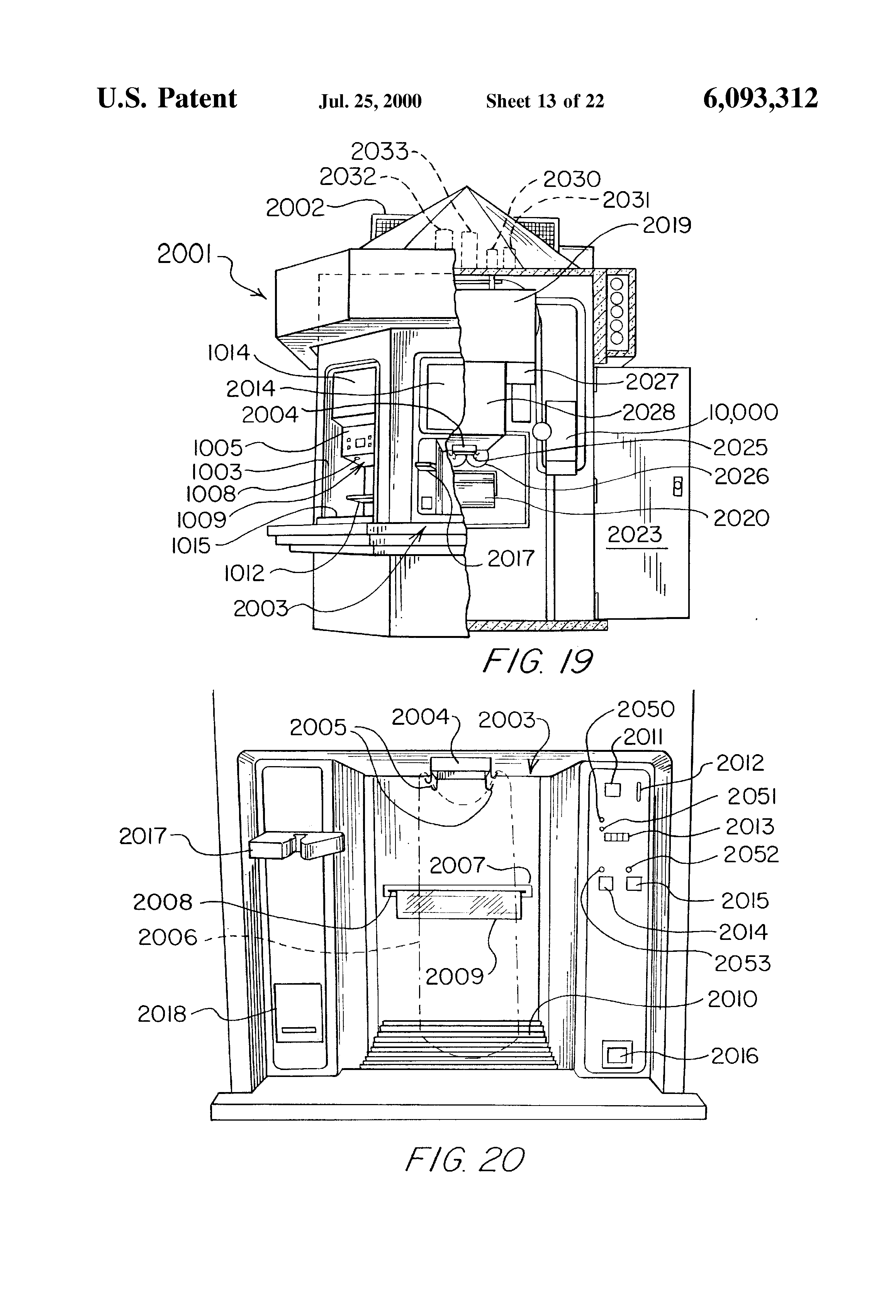 patent us6093312 ice dispenser an air cooled bin google patent drawing