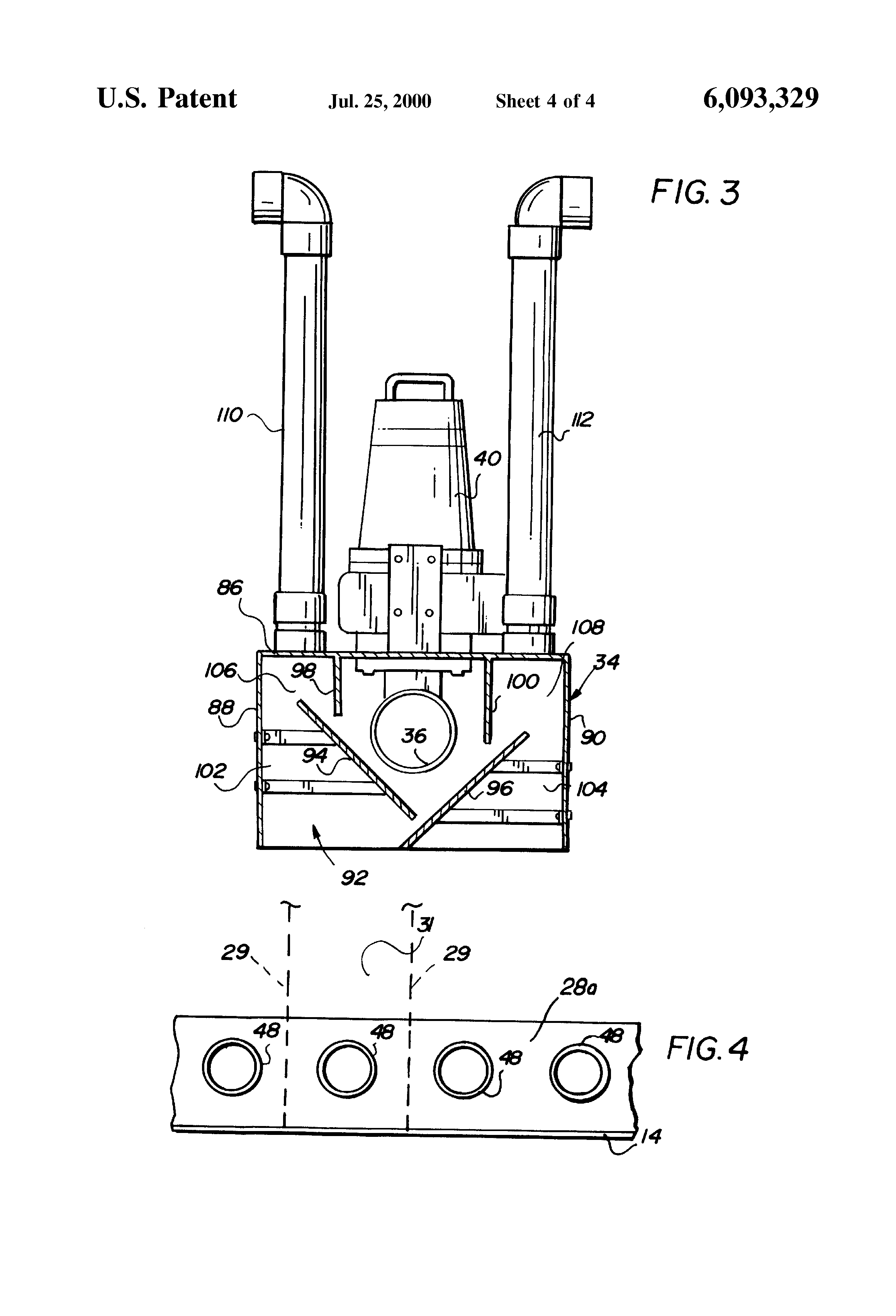 Patent US6093329 Air scourbackwash apparatus for celless