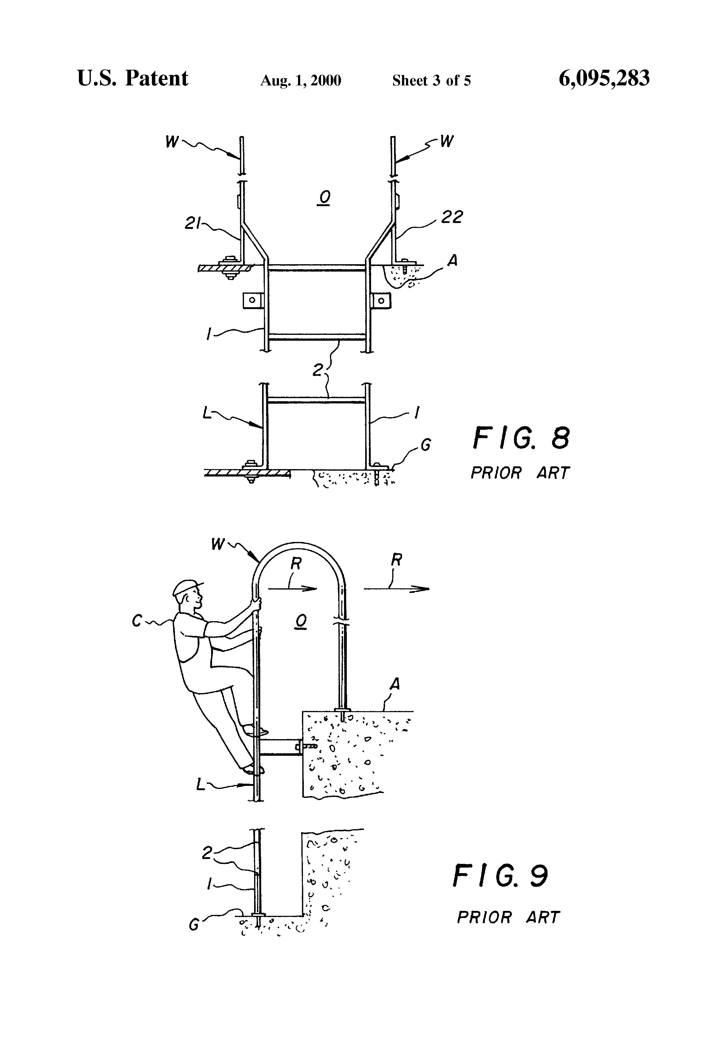Patent Us6095283 Walk Through Ladder Google Patents