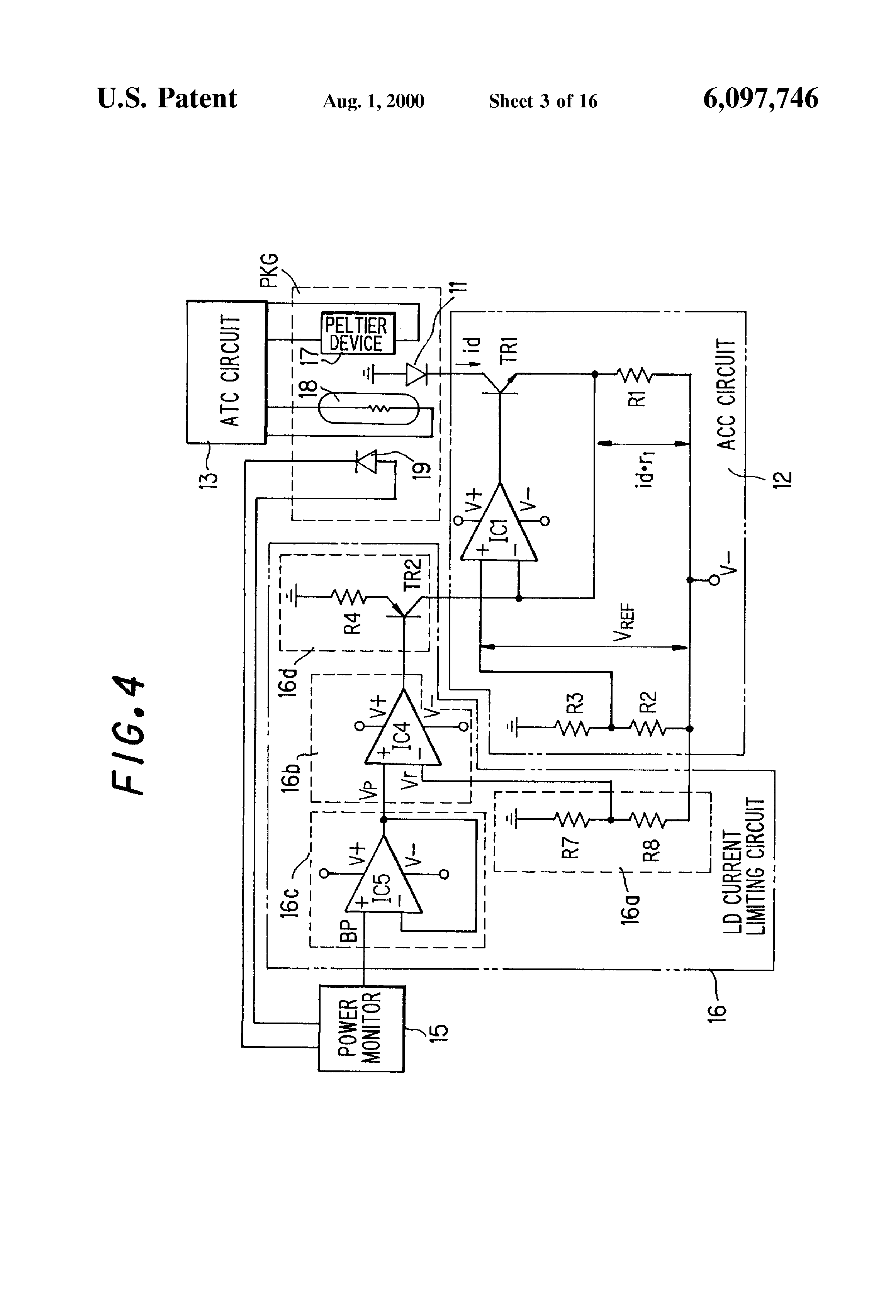 Brevet Us6097746 Laser Diode Protecting Circuit Google Brevets Current Limiting Patent Drawing