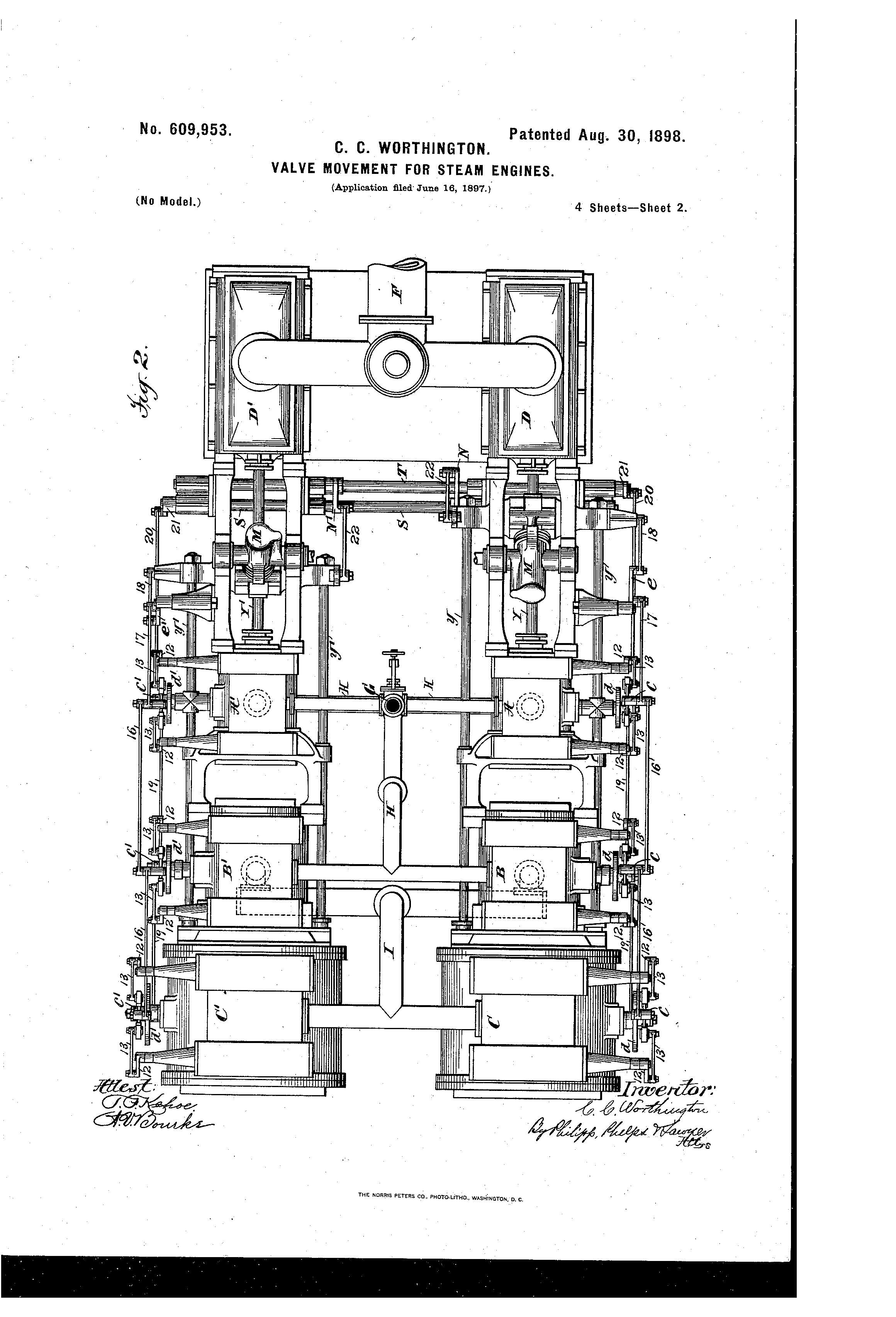 Patent US609953 Valvemovement for steamengines Google Patenten – Diagram Of Steam Steam Engine For Movement