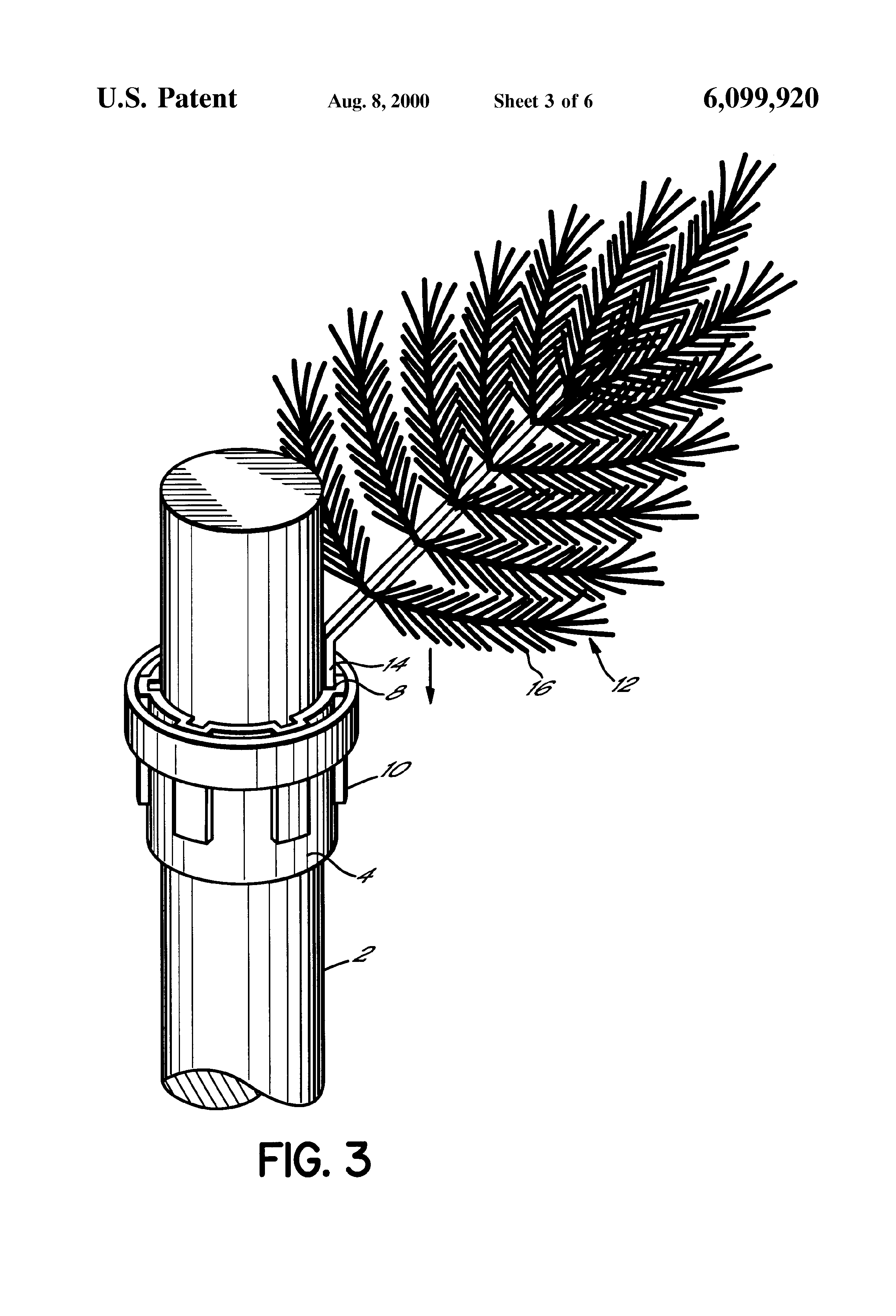 Patent us artificial christmas tree and method of