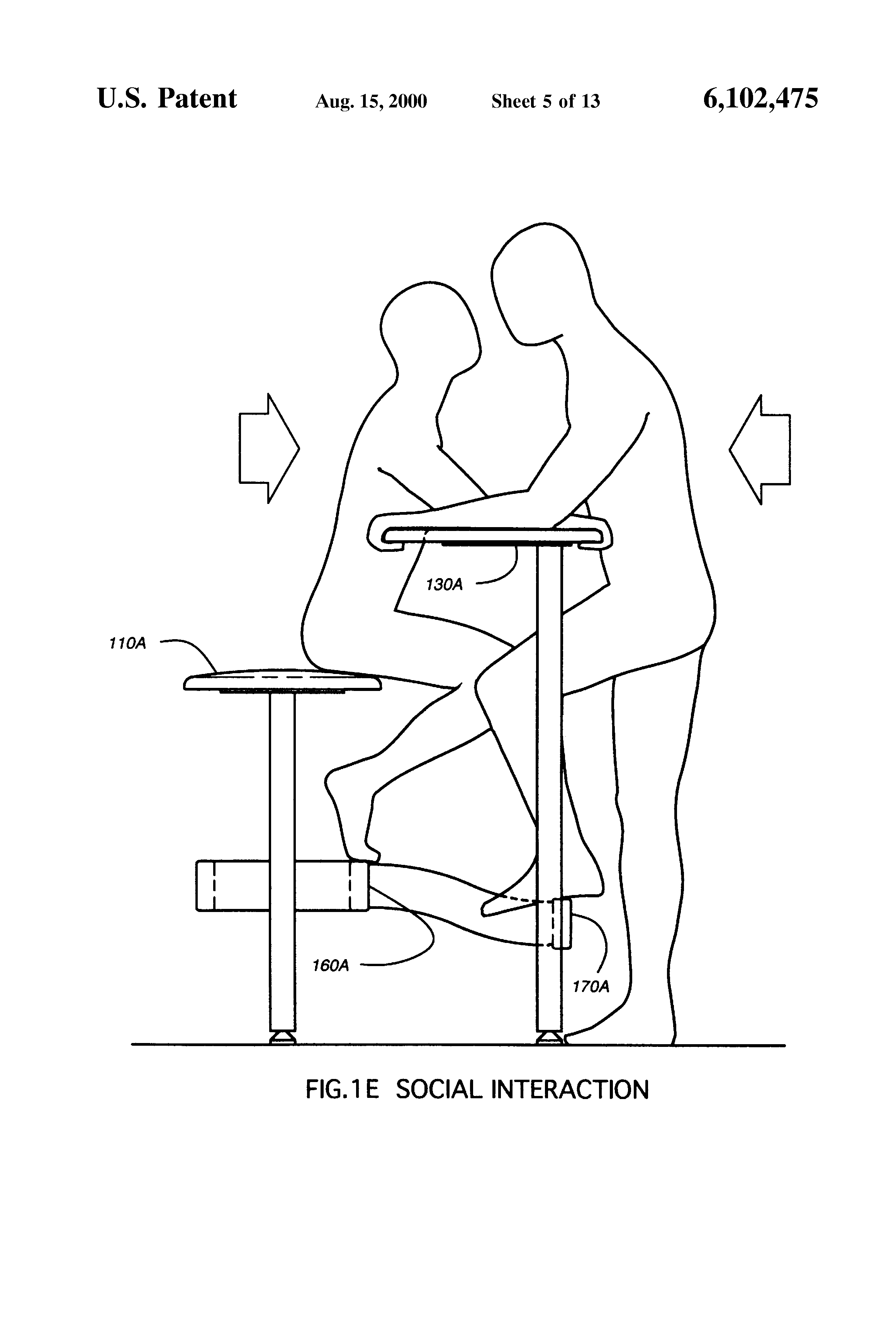 Patent US6102475 Stool With Attached Table Google Patents