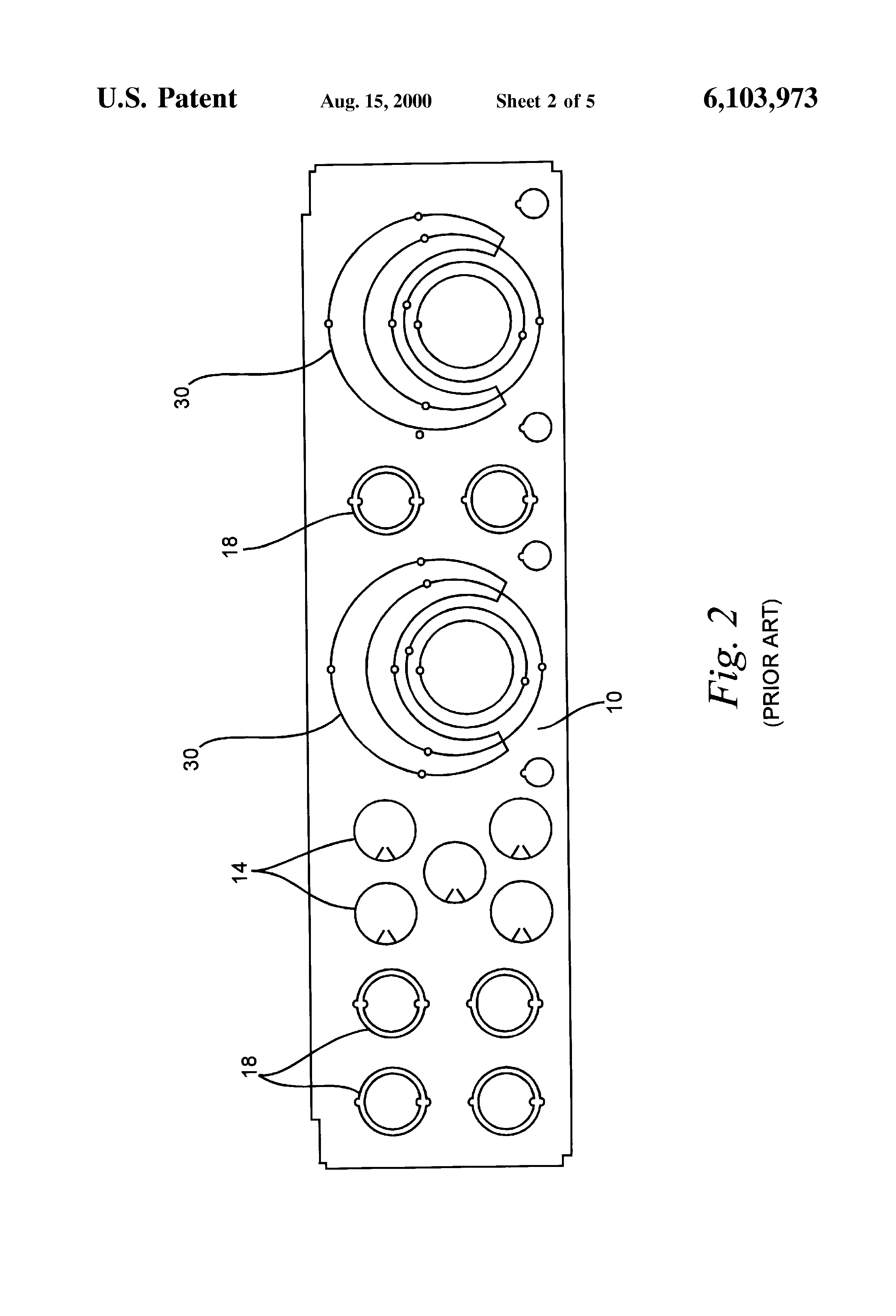 patent us6103973 - knockout pattern for bundled wire and conduit fittings