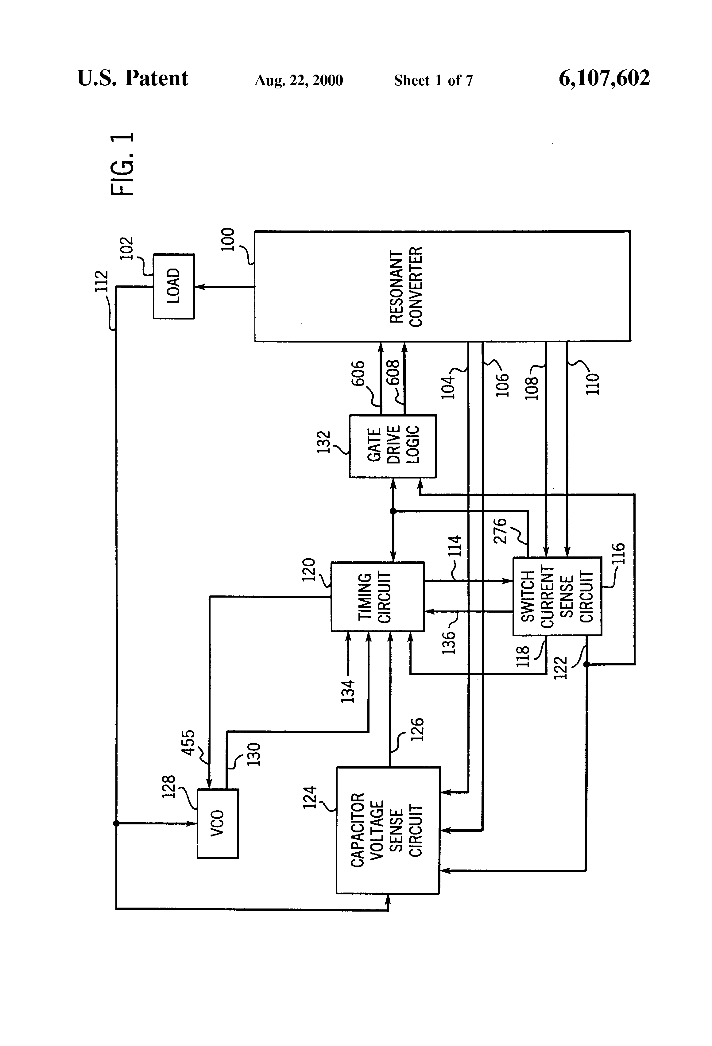 patent us6107602 switchable power supply electronically patent drawing