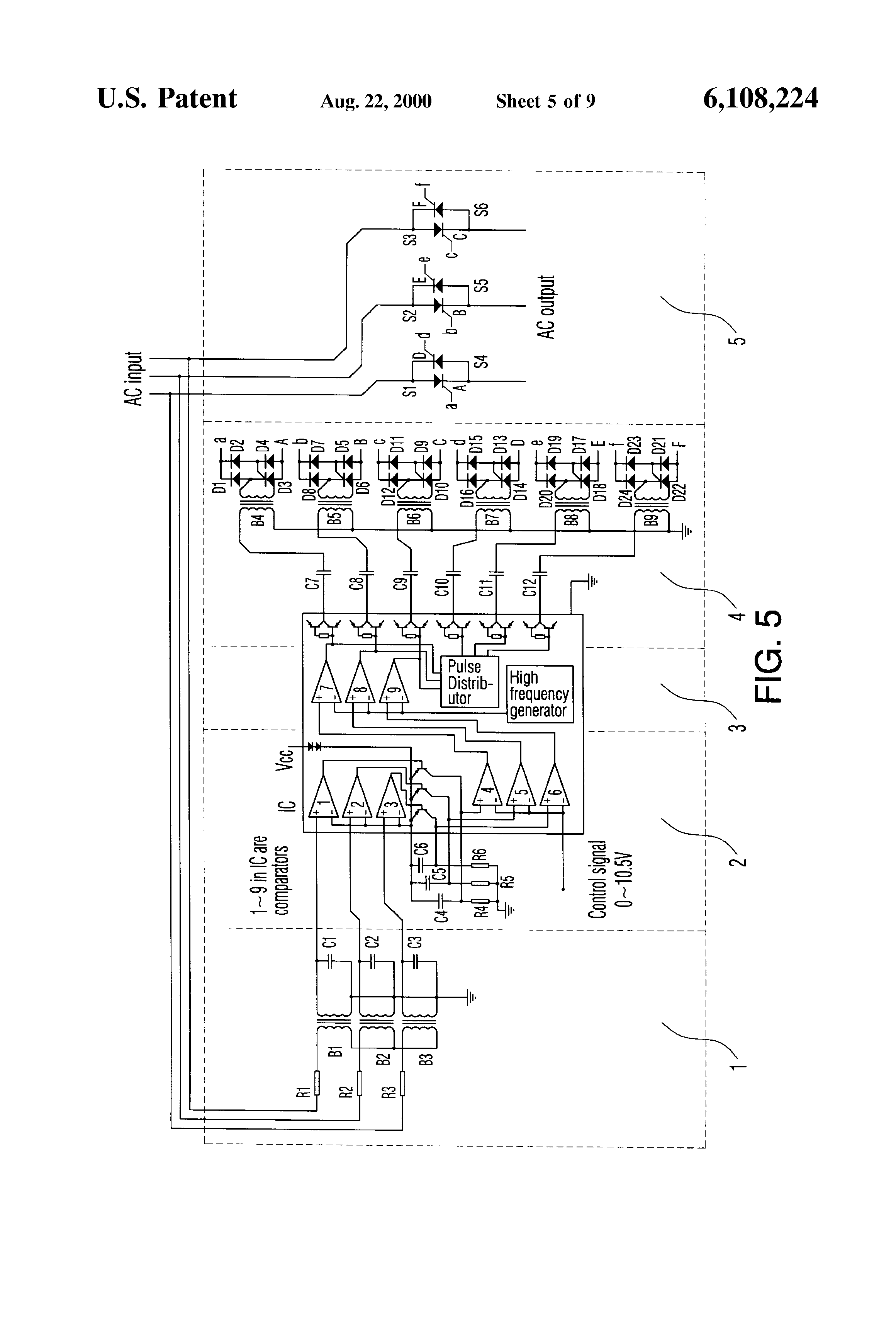 Patent Us6108224 Phase Shift Triggering Circuit For Thyristor And Circuitdiagramforscrtriggeringcircuit Drawing