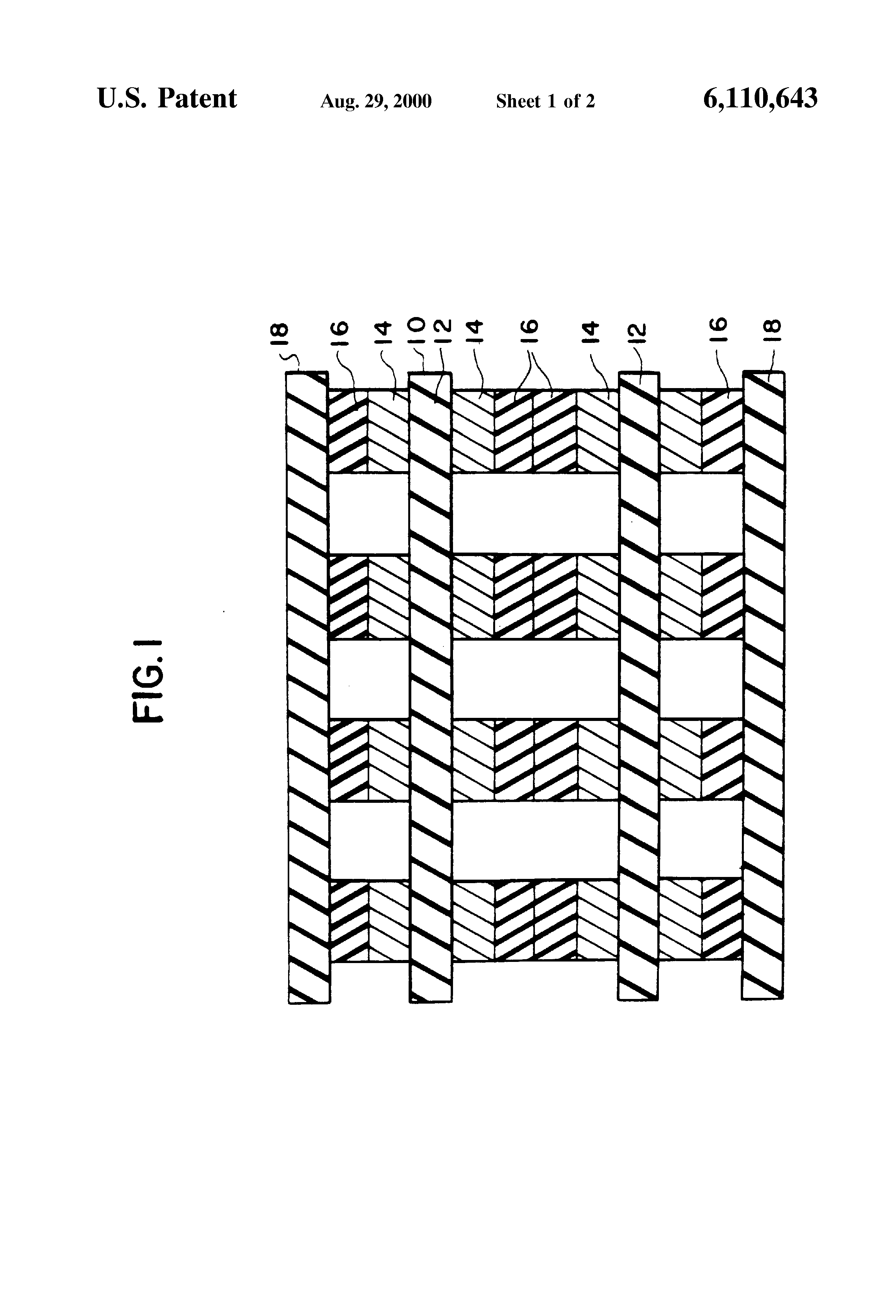 Patent Us6110643 Method Of Forming A Multilayer Printed Circuit Wiring Board Drawing