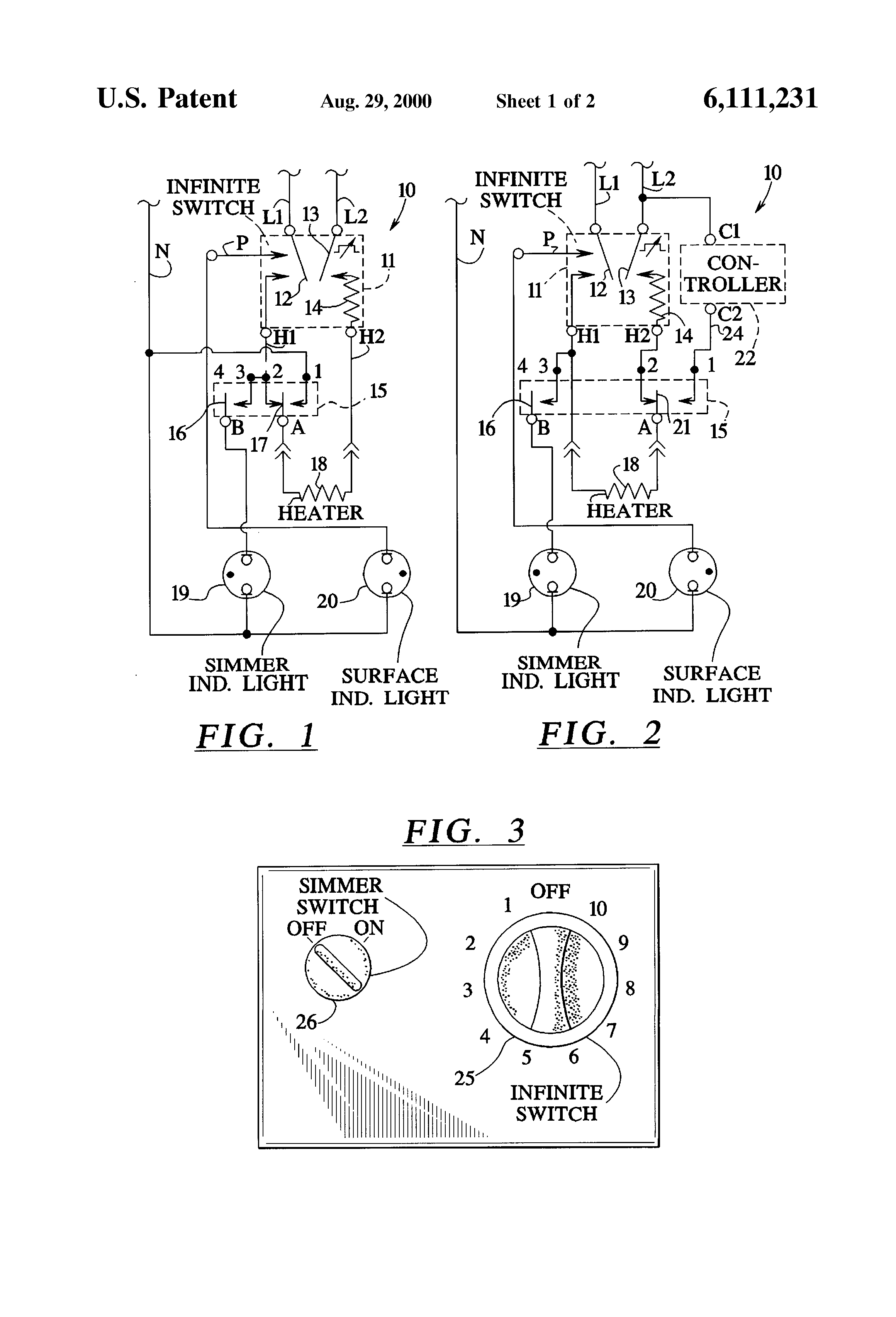 US6111231 1 patent us6111231 temperature control system for an electric robertshaw infinite switch wiring diagram at bayanpartner.co