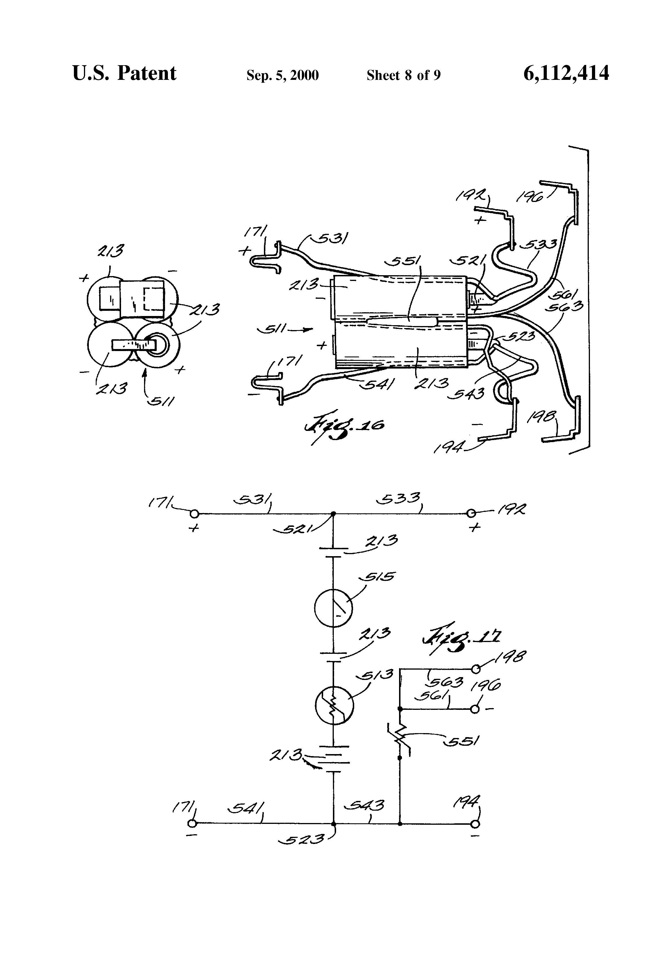 patent us6112414 rechargeable hair clipper assembly google patents patent drawing