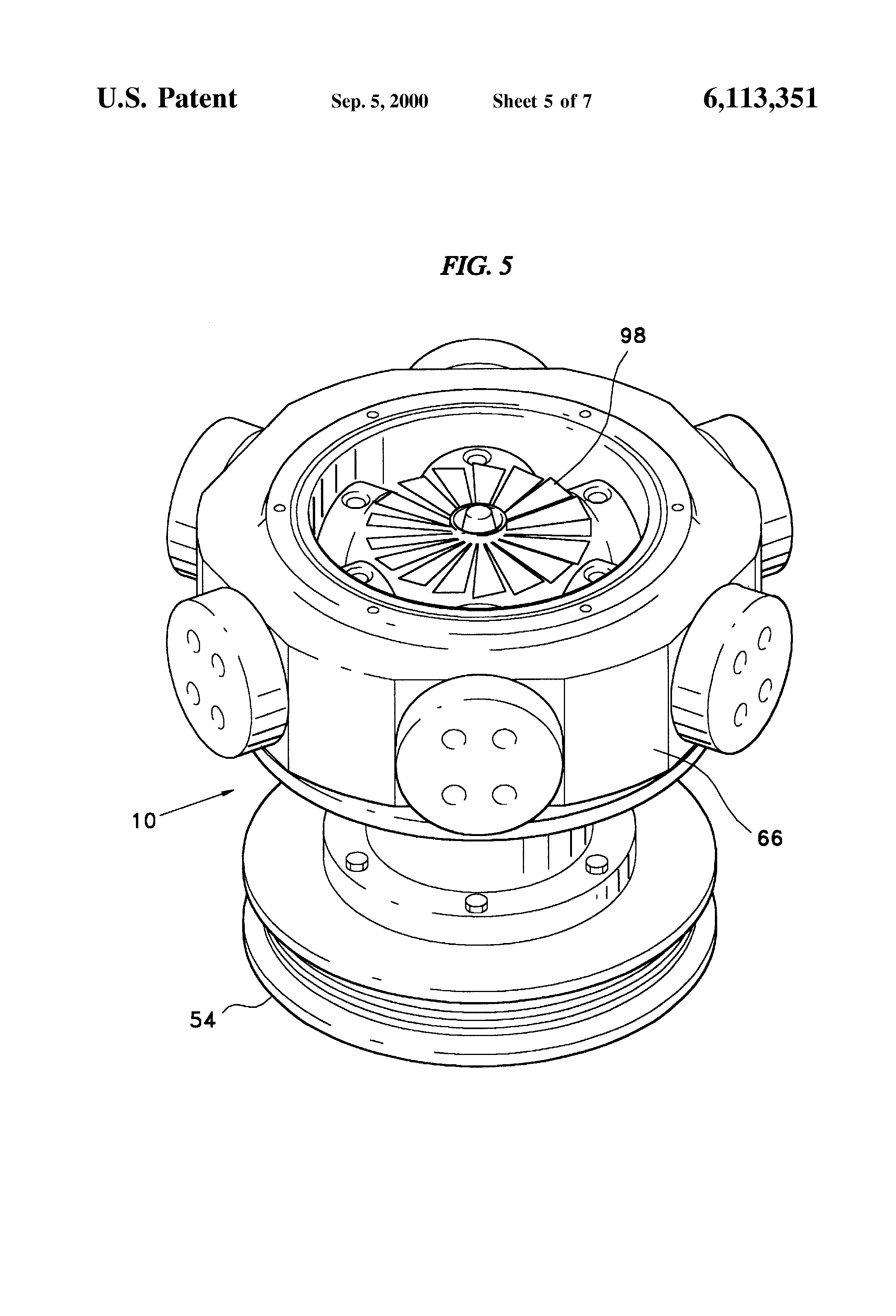 Variable Pitch Fan : Patent us variable pitch fan google patents