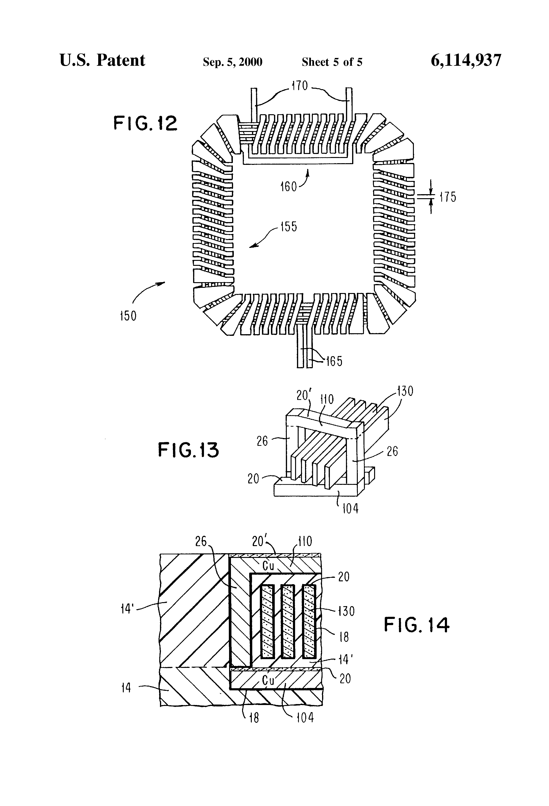patent us6114937 - integrated circuit spiral inductor