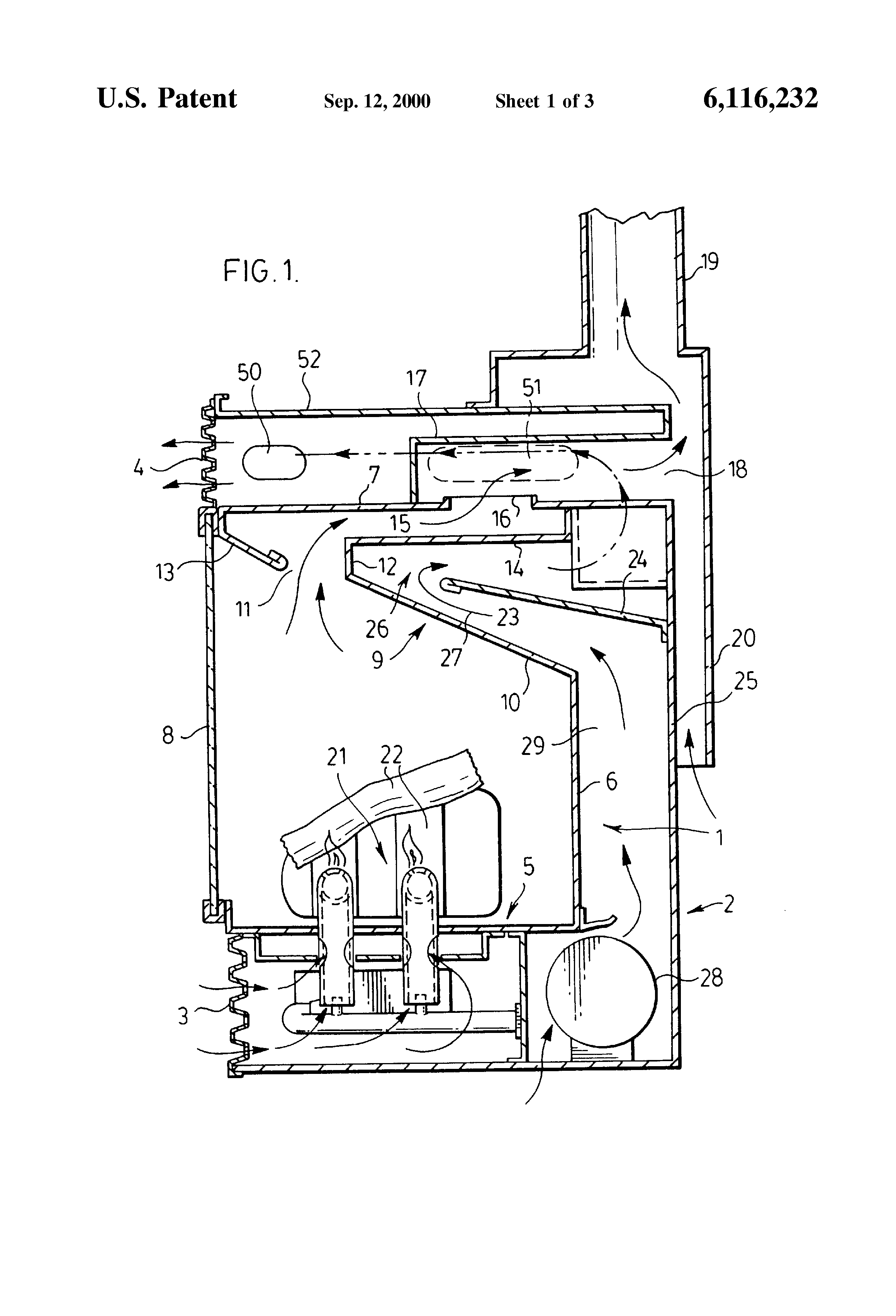 patent us6116232 gas fireplace insert google patents