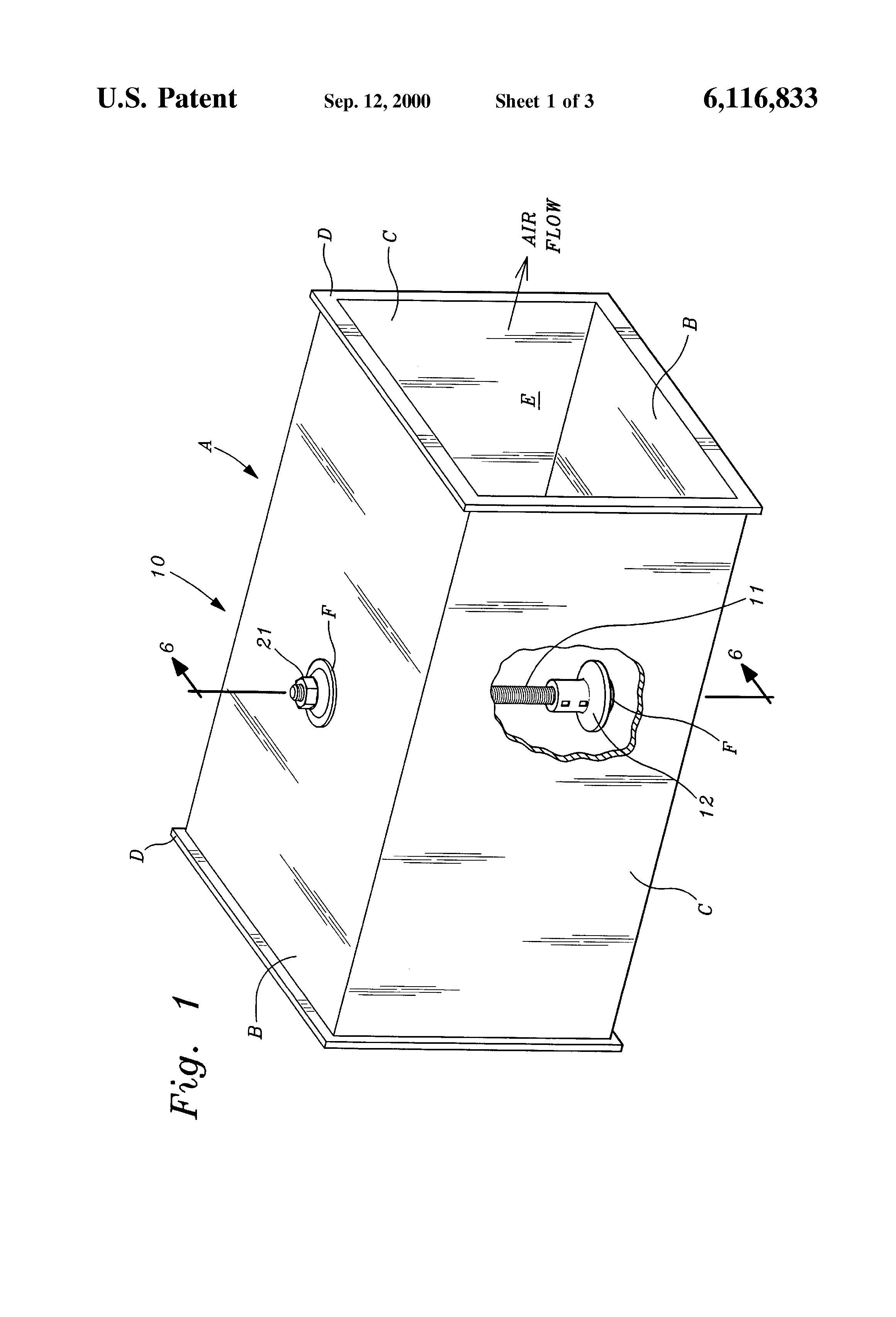 patent us6116833
