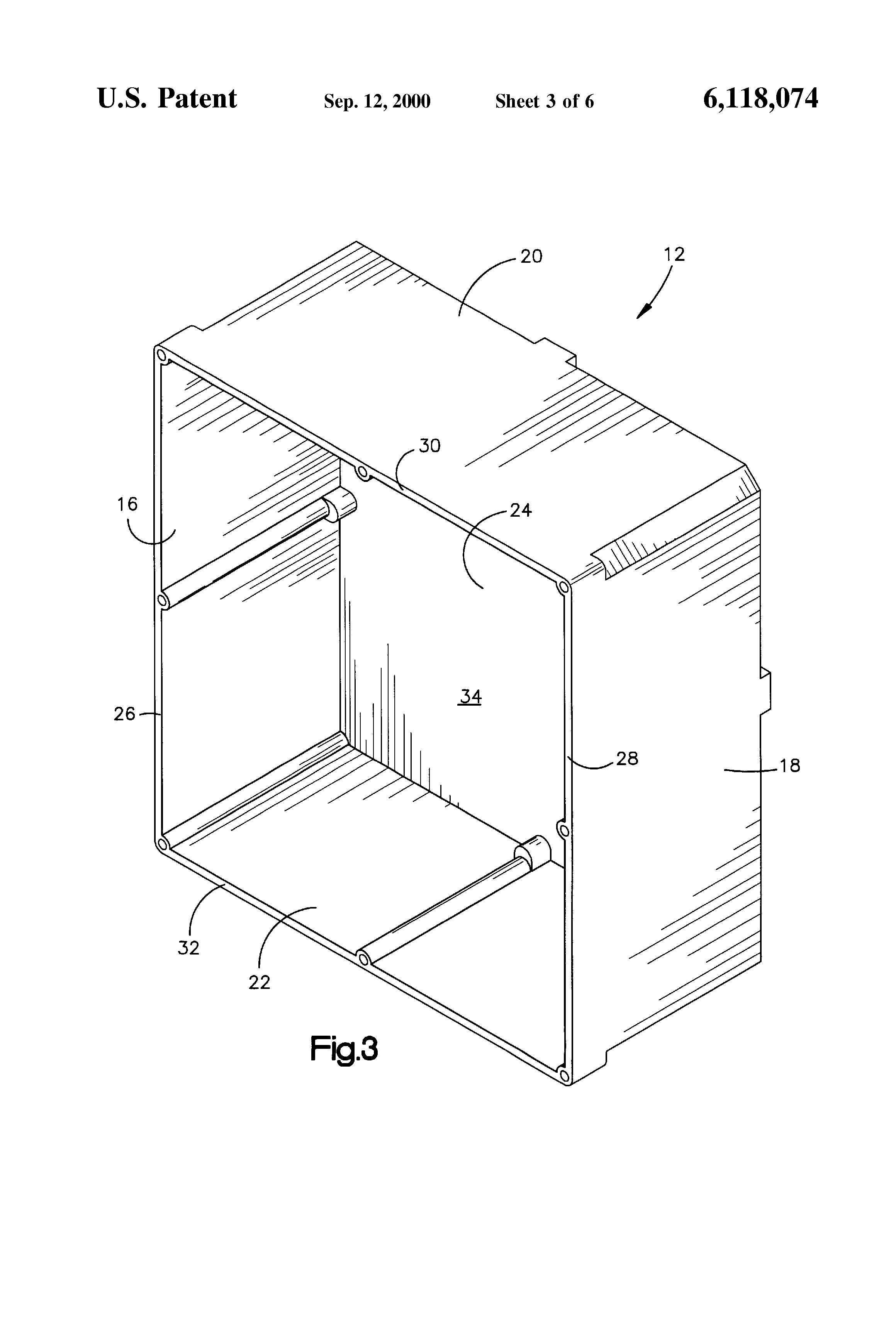 patent us6118074 - curved lid junction box
