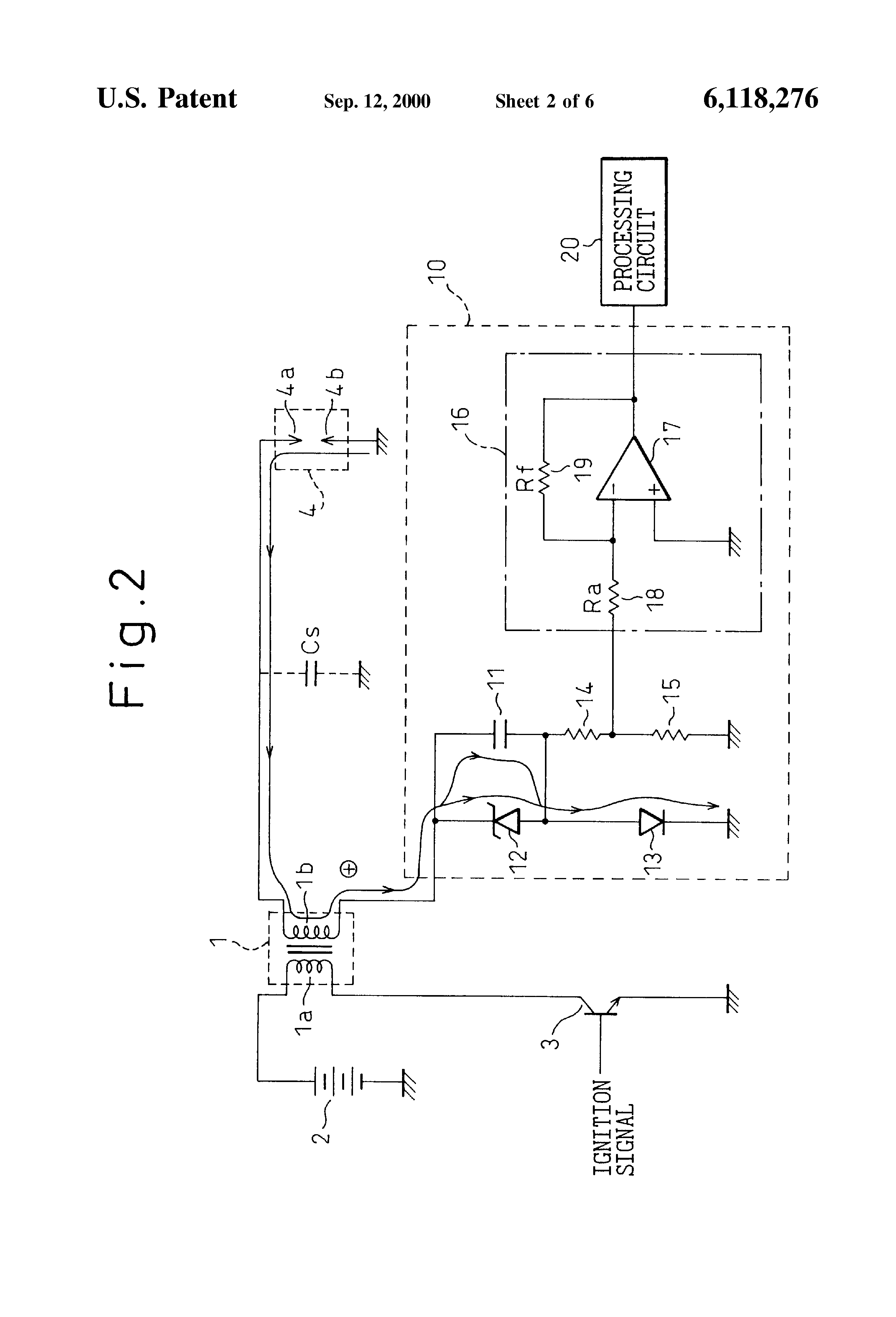 patent us6118276 - ion current detection device