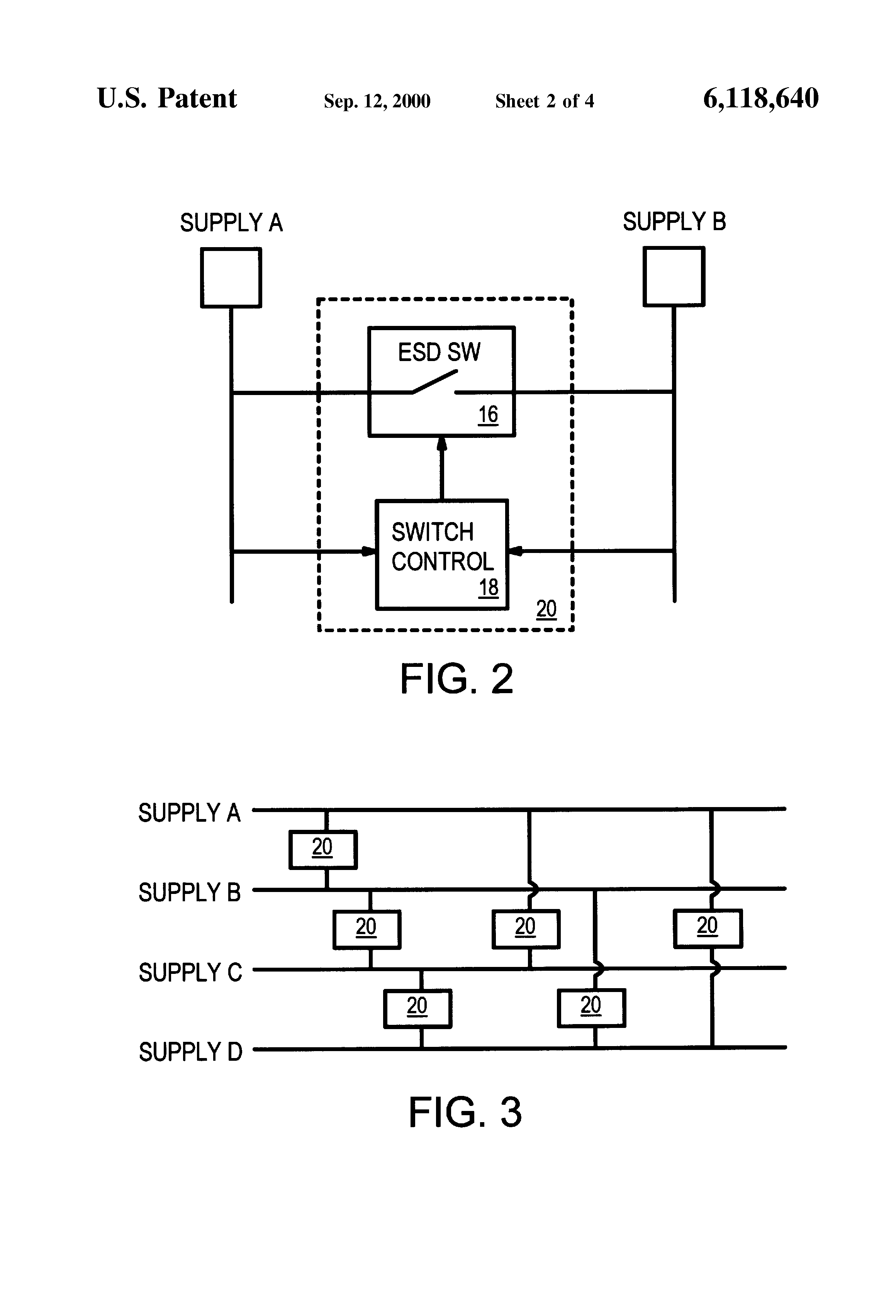 Patent Us6118640 Actively Driven Thin Oxide Mos Transistor Shunt Esd Design Onchip With Mixedmode Circuit Simulation Drawing