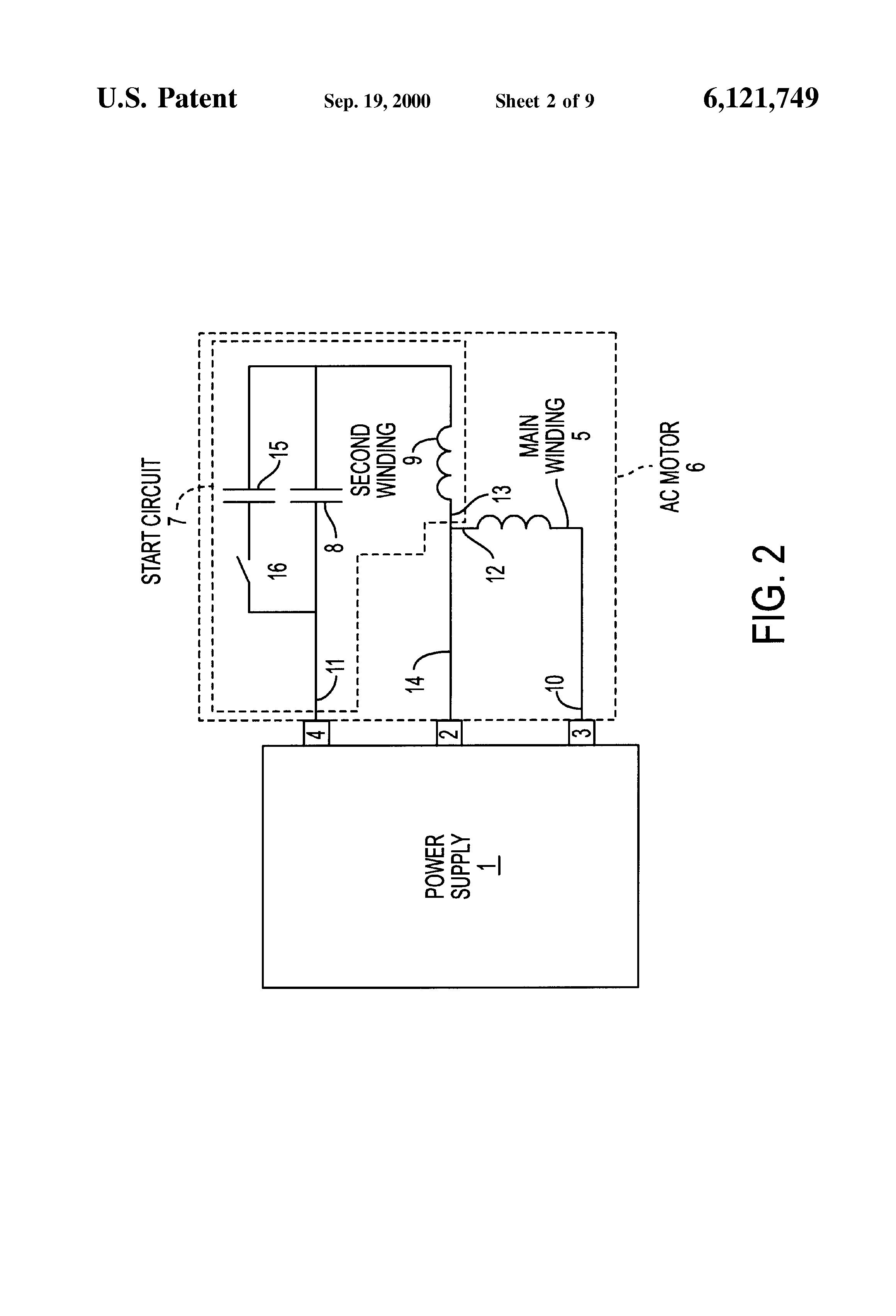 patent us6121749 variable speed drive for single phase motors patent drawing