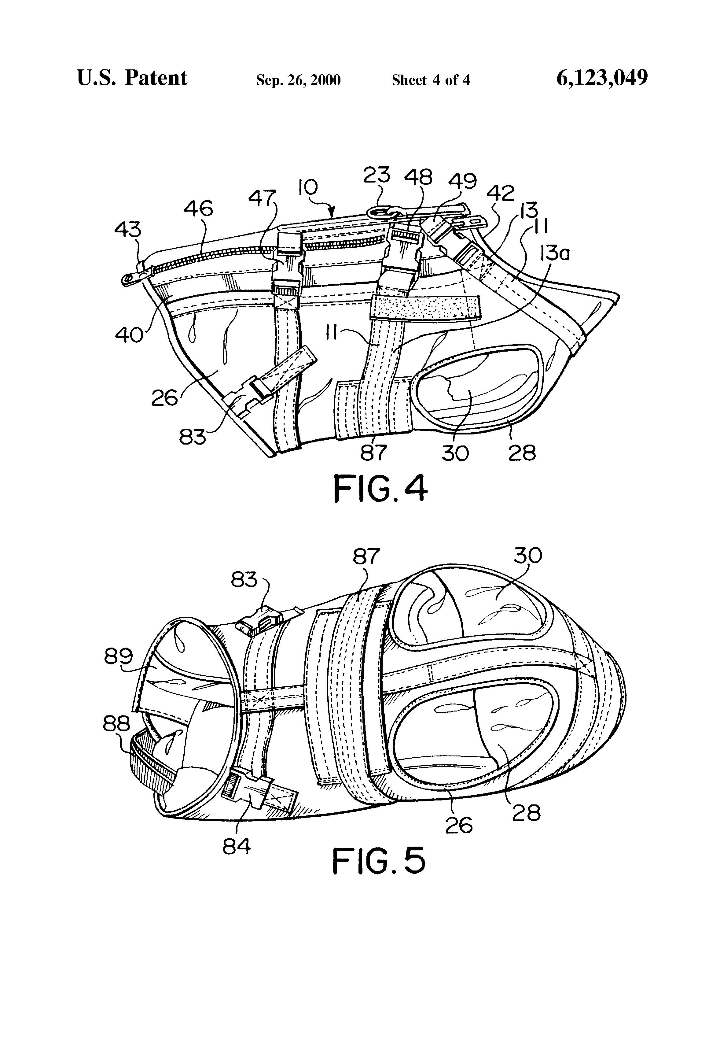patent us6123049 - bullet proof canine vest