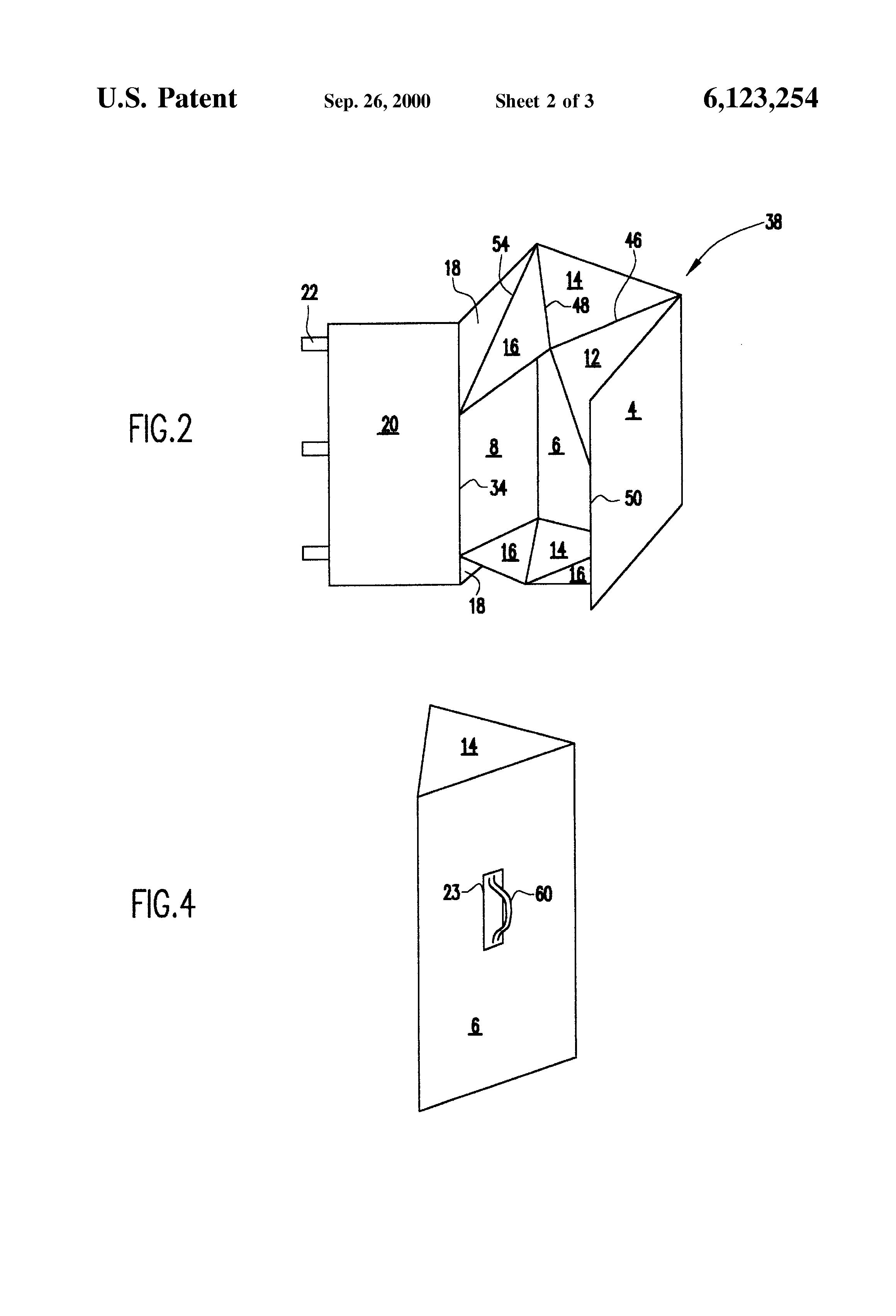 Patente US6123254 - Golf bag shipping case - Google Patentes